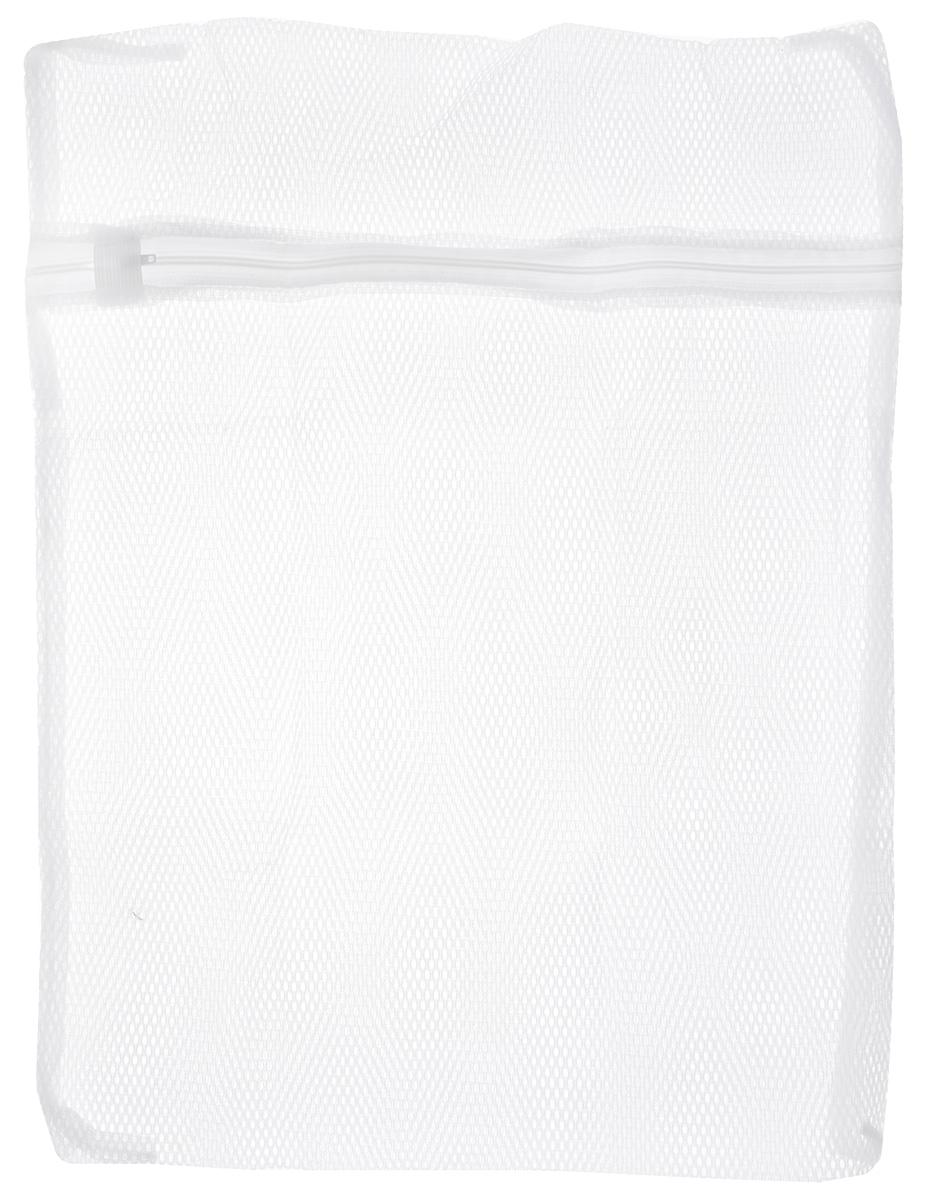 Мешок для стирки белья Home Queen, цвет: белый, 40 х 50 см50352Мешок Home Queen на молнии для стирки белья изготовлен из полиэстера. Применяется для стирки белья в стиральной машине. При использовании мешка качество стирки сохраняется. Оптимальный результат стирки достигается при заполнении мешка не более чем на 3/4. Помещенное в мешок белье меньше изнашивается и не рвется, лучше сохраняет свою оригинальную форму. Изделие особенно рекомендовано для стирки мелкого белья и изделий из деликатных тканей. Мешок Home Queen идеален для предотвращения попадания мелких предметов (пуговиц, ниток, кнопок) в механизм стиральной машины. Размер: 40 х 50 см.