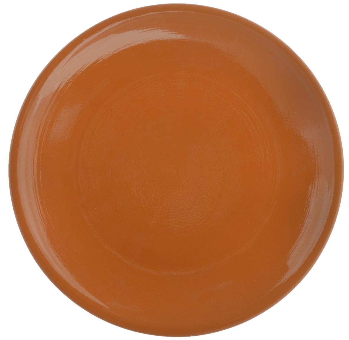 Тарелка Борисовская керамика Cтандарт, цвет: коричневый, диаметр 23 смОБЧ00000586_коричневыйТарелка плоская Cтандарт выполнена из высококачественной керамики. Внутренняя часть тарелки оформлена ярким рисунком с изображением цветка. Тарелка Борисовская керамика Cтандарт идеально подойдет для сервировки стола и станет отличным подарком к любому празднику. Изделие может использоваться как подставка под любую другую посуду. Можно использовать в духовке и микроволновой печи. Диаметр (по верхнему краю): 23 см.