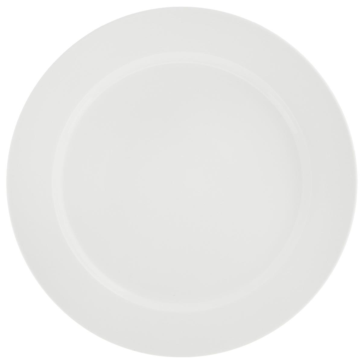 Тарелка Tescoma Opus Stripes, диаметр 27 см385124Тарелка Tescoma Opus Stripes выполнена из высококачественного фарфора однотонного цвета и прекрасно подойдет для вашей кухни. Такая тарелка изысканно украсит сервировку как обеденного, так и праздничного стола. Предназначена для подачи вторых блюд. Пригодна для использования в микроволновой печи. Можно мыть в посудомоечной машине. Диаметр: 27см. Высота тарелки: 2,5 см.