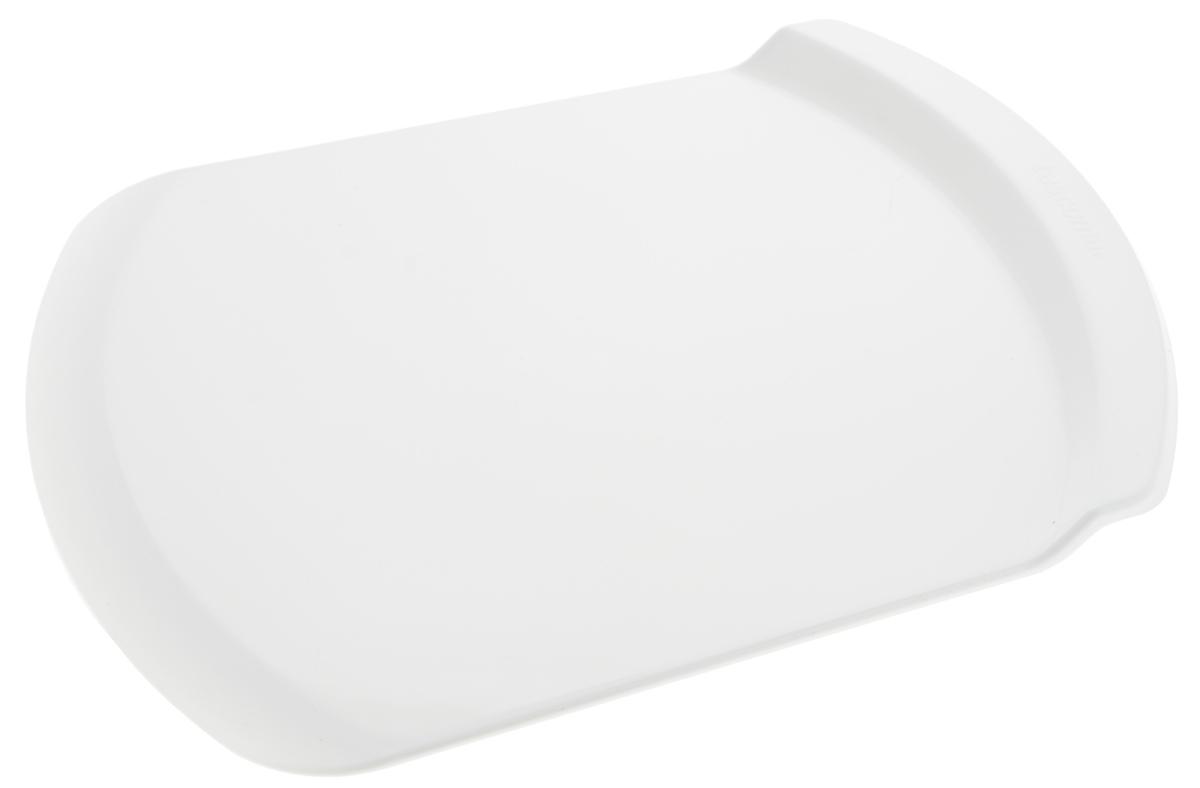 Поднос для переноски торта Tescoma Delicia, 31 х 23 х 2 см630130Поднос Tescoma Delicia отлично подходит для легкого собирания и целых тортов, отдельных ярусов, десертов и других изделий. Изготовлен он из прочного пластика. Можно мыть в посудомоечной машине.