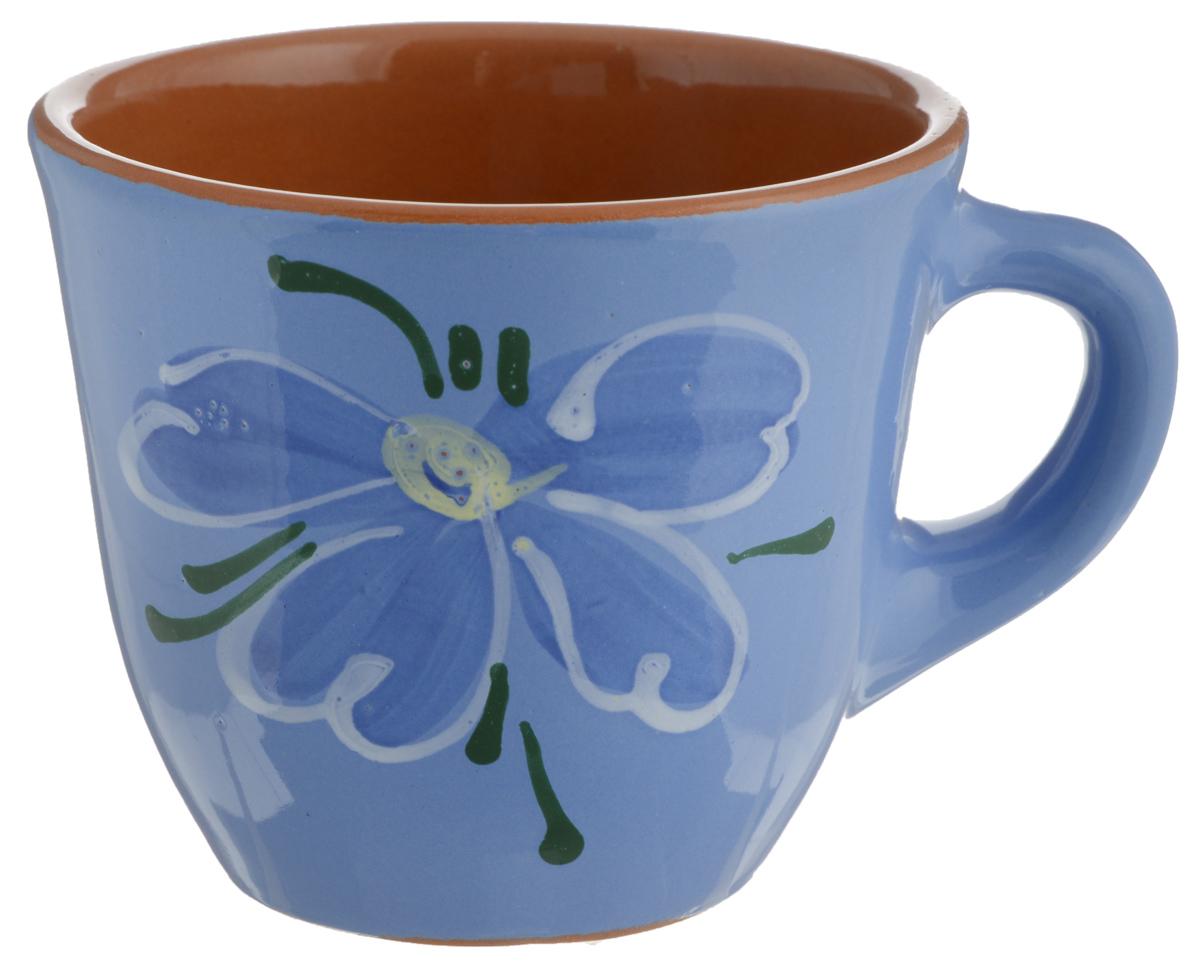 Чашка Борисовская керамика Стандарт, 300 млОБЧ00000628Удобная чашка Борисовская керамика Стандарт предназначена для повседневного использования. Она выполнена из высококачественной глины. Природные свойства этого материала позволяют долго сохранять температуру напитка, даже, если вы пьете что-то холодное. Внешние стенки чашки оформлены изображением цветка. Диаметр чашки (по верхнему краю): 10 см. Диаметр основания: 5,5 см. Высота чашки: 8,5 см.