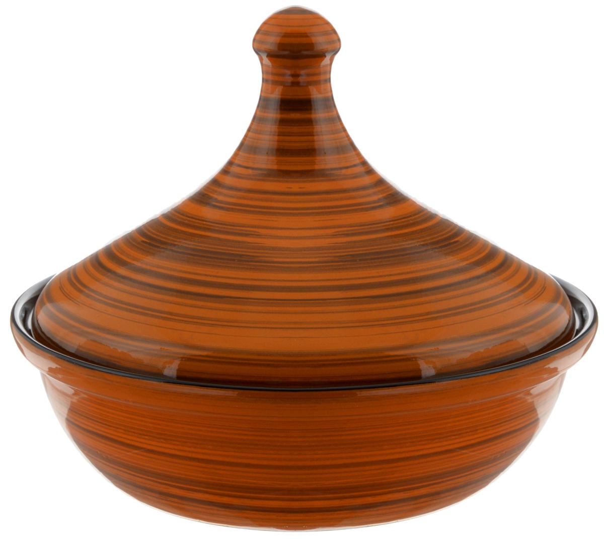 """Тажин Борисовская керамика """"Радуга"""", цвет: коричневый, черный, 2,5 л"""