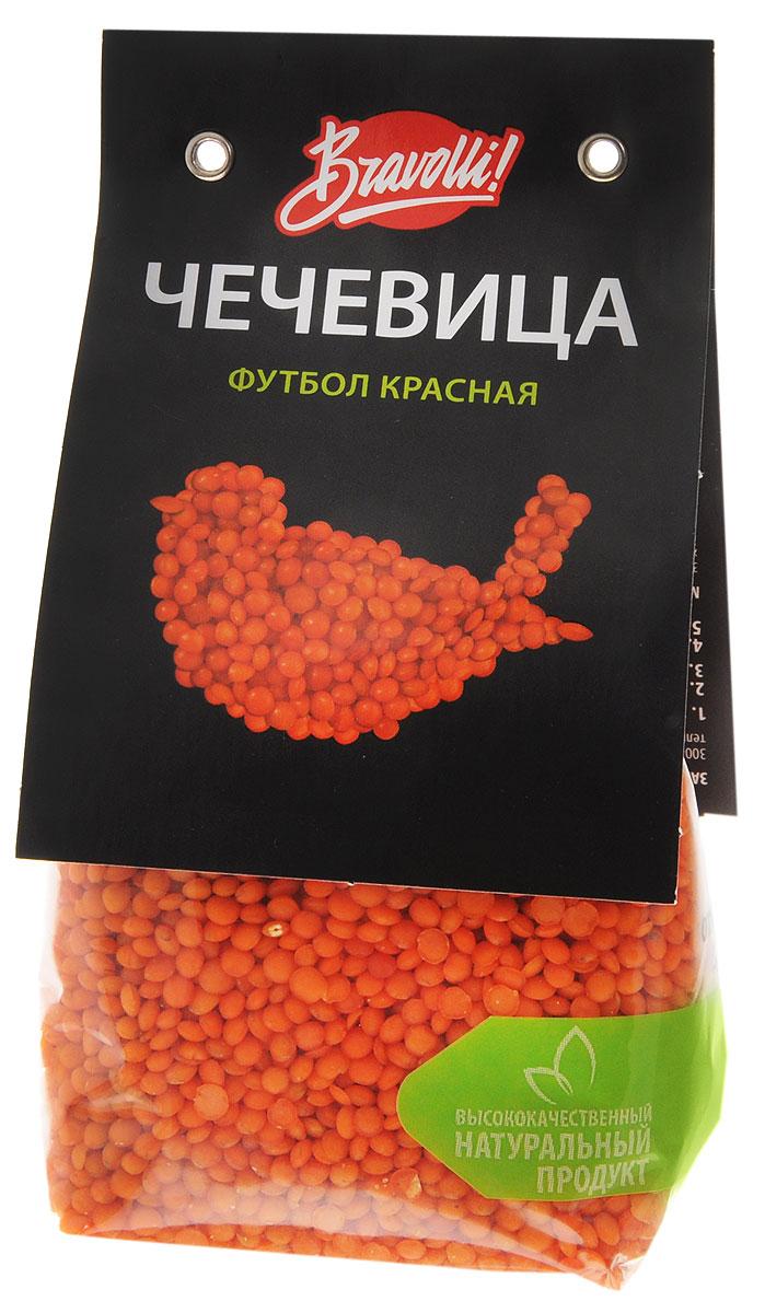 Bravolli Футбол чечевица красная, 350 гБР 89/6Красная чечевица Футбол похожа на маленький оранжевый мячик. Она довольно универсальна, замечательно подходит к разнообразным ингредиентам: овощам, мясу, рыбу — всему, что пожелаете. Не требует предварительного замачивания, время приготовления — 15 минут.