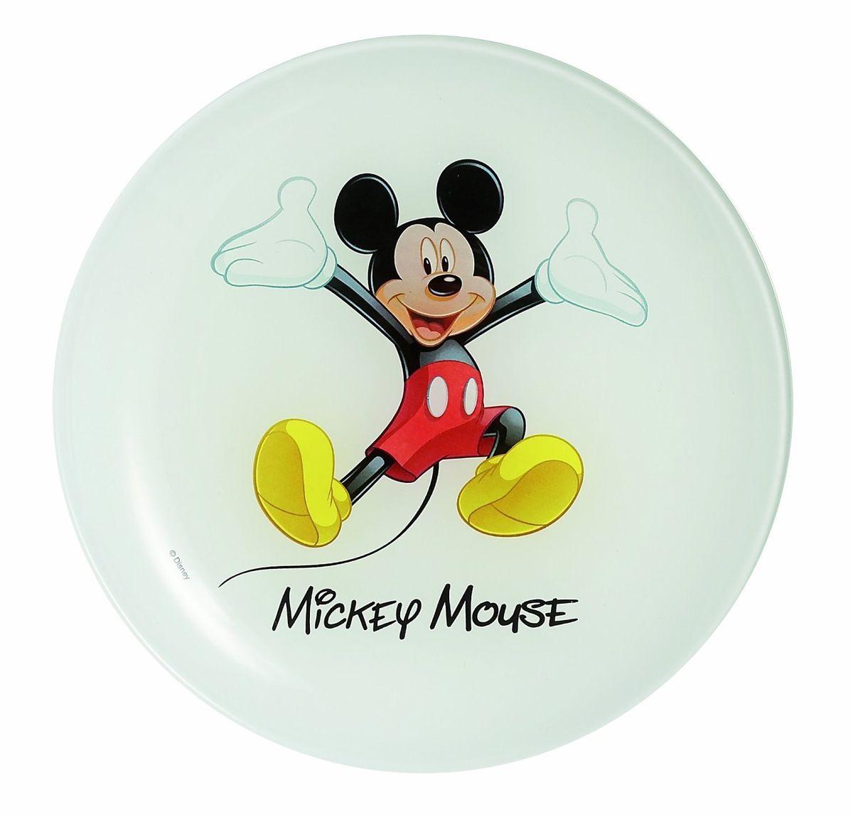 Тарелка десертная Luminarc Mickey Colors, диаметр 20 смG9172Тарелка десертная Luminarc Mickey Colors изготовлена из ударопрочного стекла. Такая тарелка непременно порадует вашего ребенка. Идеальна для подачи десертов, пирожных, тортов и многого другого. Она прекрасно оформит стол и станет отличным дополнением к вашей коллекции кухонной посуды. Изделие можно мыть в посудомоечной машине. Диаметр тарелки: 20 см.