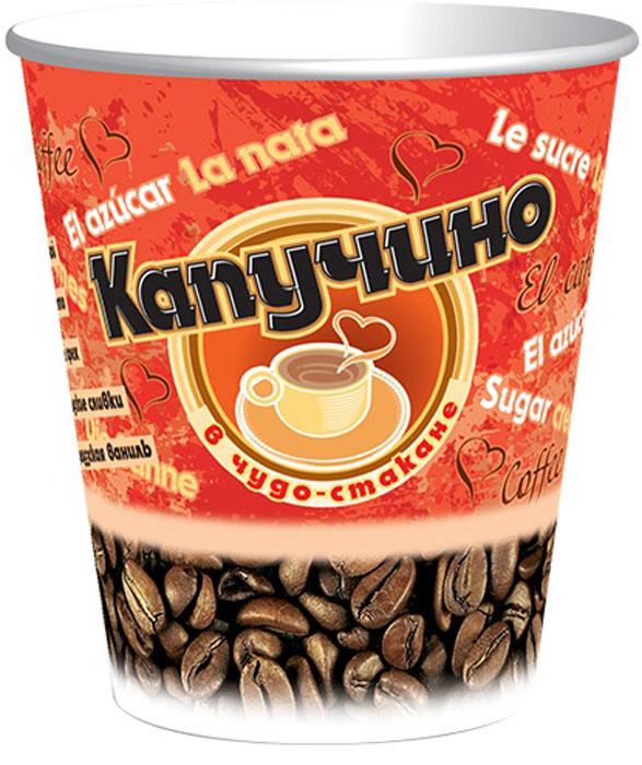 Чудо-Стакан Капучино Амаретто кофейный напиток, 10 стаканов по 24 г