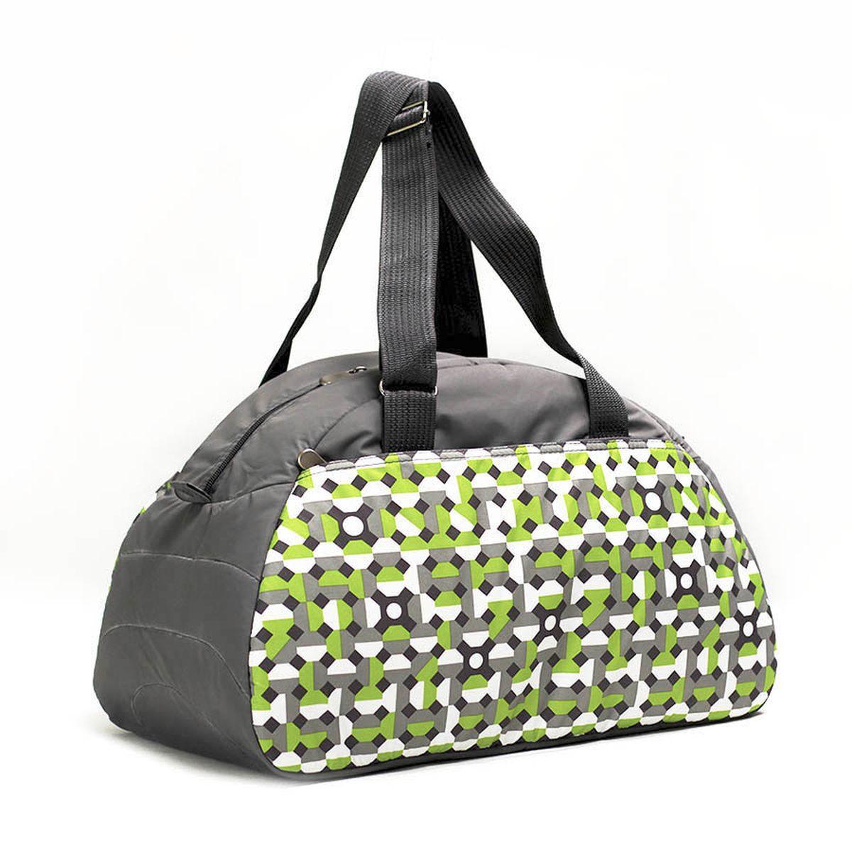 Сумка спортивная Polar, цвет: серый, зеленый, 28 л. 60206020_серый, зеленыйСпортивная сумка имеет одно большое отделение, внутри которого один карман на молнии. Снаружи один большой карман на молнии. Длина ручек регулируется по необходимой длине, что позволяет носить сумку как в руках, так и на плече. \Максимальная высота ручек- 35 см. Съемного плечевого ремня нет.