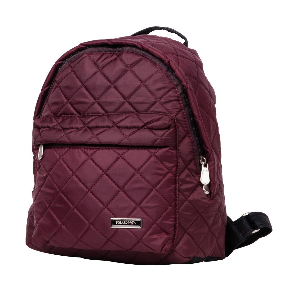 Рюкзак городской Polar, цвет: бордовый, 16 л. п7074-14п7074_14_бордовыйНебольшой и очень удобный рюкзак Polar для повседневного использования. Внутри расположены два небольших открытых кармана и карман на молнии. Снаружи на передней стенке рюкзака вместительный накладной кармана на молнии. Рюкзак выполнен из стеганого материала, дно и лямки имеют вставки из экокожи. Сверху рюкзак имеет удобную ручку для переноски.