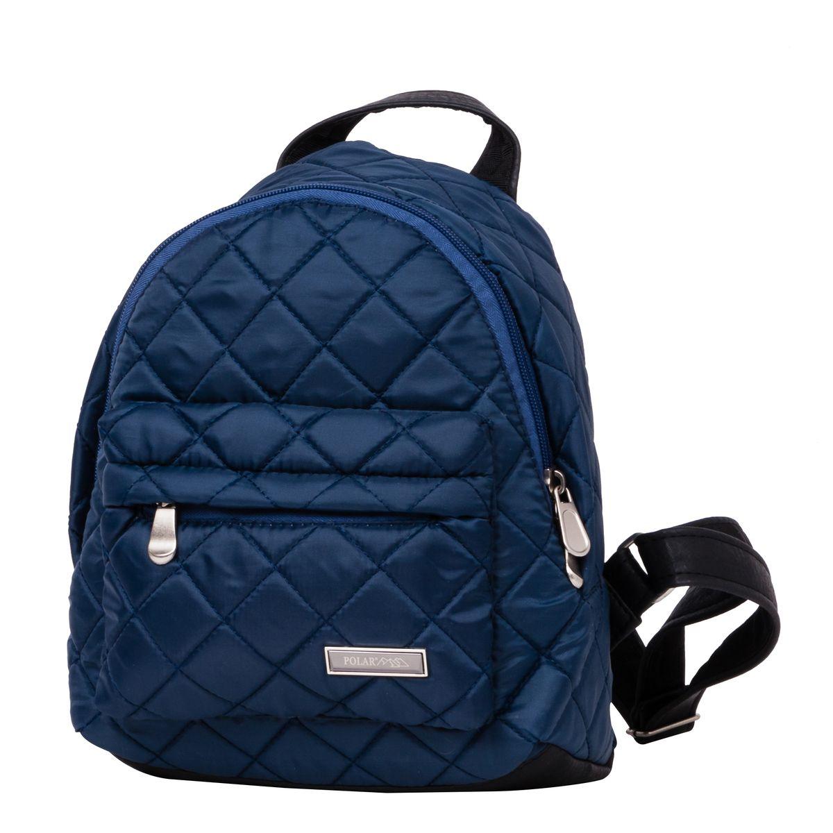 Рюкзак городской женский Polar, цвет: темно-синий, 9 л. п7075-04п7075_04Рюкзак Polar выполнен из высококачественного полиэстера, который не пропускает воду. Рюкзак оформлен декоративной прострочкой и фирменной металлической пластинкой. На лицевой стороне расположен объемный накладной карман на молнии для мелочей. Рюкзак имеет петлю для подвешивания и две удобные лямки, длина которых регулируется с помощью пряжек. Изделие застегивается на застежку-молнию. Внутри расположено главное отделение, которое содержит вшитый карман на молнии и два открытых накладных кармана для телефона и мелочей.