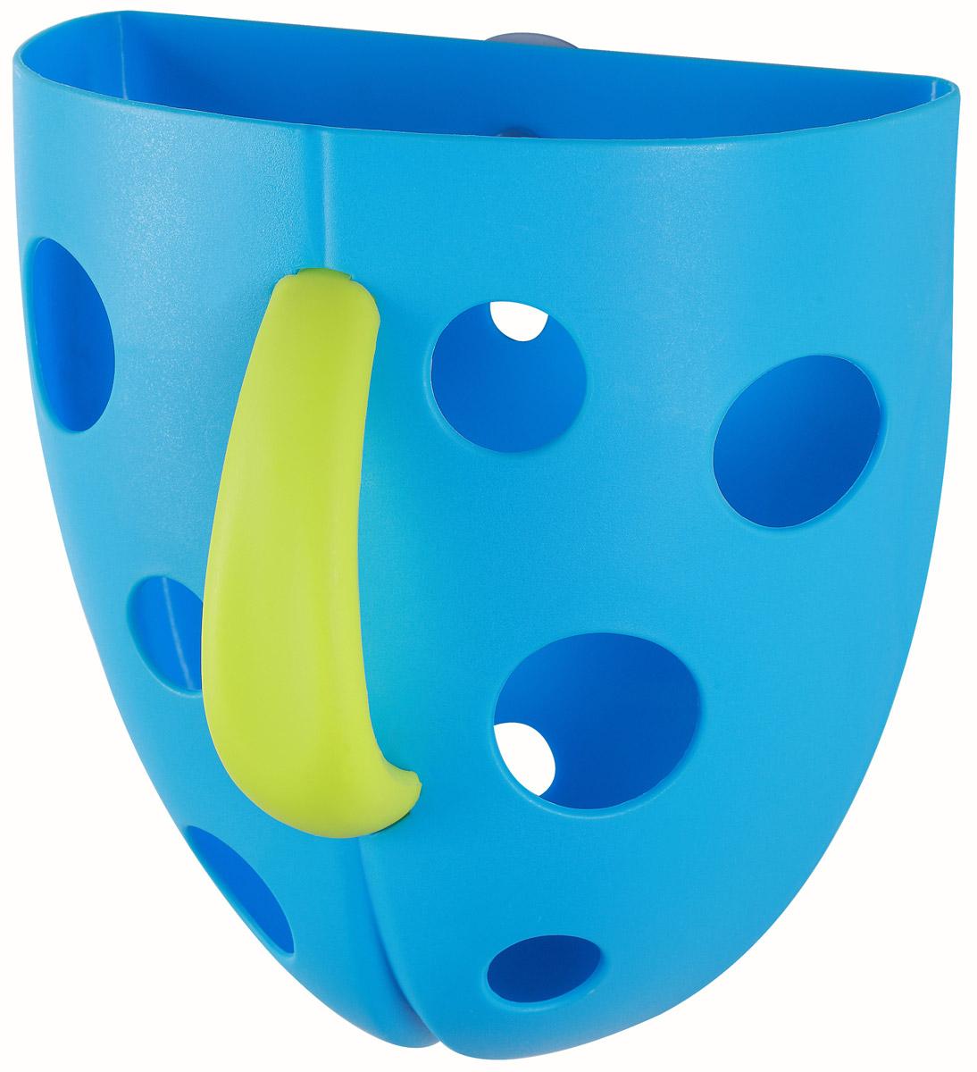 BabyOno Контейнер для игры в ванной цвет голубой салатовый262_голубой/салатовыйКонтейнер для игры в ванной BabyOno - это отличный гибрид детской игрушки и изделия, полезного для родителей. Контейнер сделает купание более приятным для ребенка, поможет вылавливать игрушки, из воды и переливать пену. В комплект входит присоска, благодаря которой контейнер можно прикрепить к стене в ванной комнате. После купания игрушки можно прополоскать и положить сушиться в контейнер. Благодаря отверстиям в контейнере игрушки быстрее сохнут. Не содержит бисфенол А.