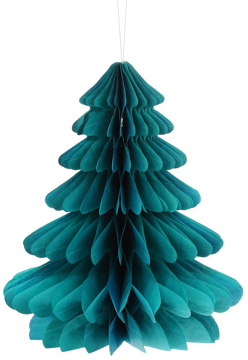 Украшение новогоднее подвесное Winter Wings Елочка, 23 х 26 смN09253Оригинальное новогоднее украшение Winter Wings Елочка выполнено из прочной бумаги. Украшение можно подвесить в любом понравившемся вам месте. Новогодние украшения приносят в дом волшебство и ощущение праздника. Создайте в своем доме атмосферу веселья и радости, украшая его всей семьей. Размер: 23 х 26 см.