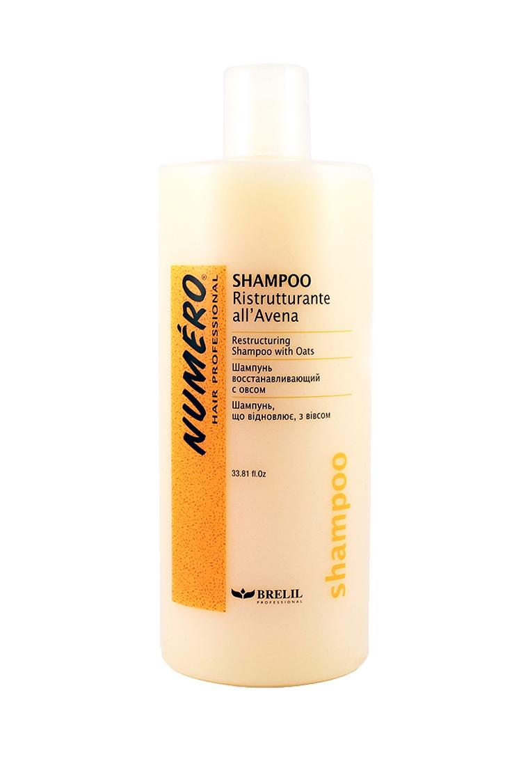 Brelil Шампунь с вытяжкой из овса Numero Oat Shampoo, 1000 млB080080Шампунь с вытяжкой из овса Brelil Professional рекомендуется использовать для активного восстановления и питания всех типов волос. Средство придает волосам блеск, эластичность и упругость.