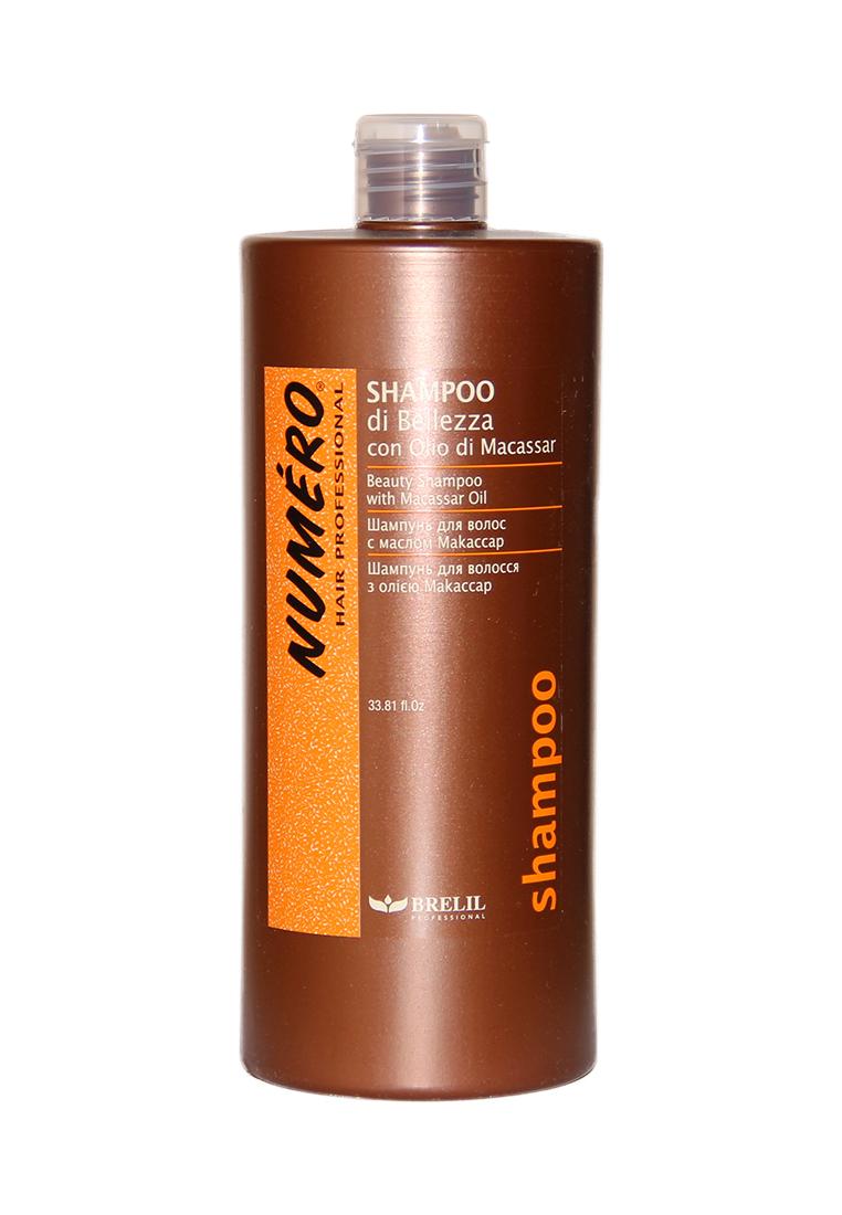 Brelil Шампунь для красоты волос с макассаровым маслом и кератином Numero Beauty Shampoo With Macassar Oil, 1000 мл (Brelil Professional)