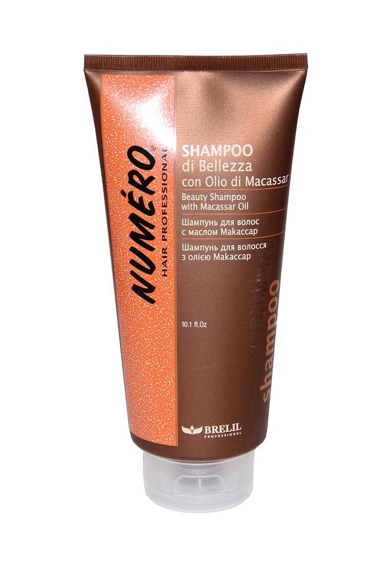 Brelil Шампунь для красоты волос с макассаровым маслом и кератином Numero Beauty Shampoo With Macassar Oil, 300 млB080092Brelil Numero Beauty Shampoo With Macassar Oil Шампунь для красоты волос с макассаровым маслом и кератином является прекрасным средством для тщательного очищения волос и их укрепления. Данный шампунь был разработан компанией Brelil специально для того, чтобы придать волосам замечательный блеск и отличный здоровый вид уже после самого первого применения. Средство основано на макассаром масле одном из самых лучших косметических масел, на протяжении многих веков используемое на Молуккских островах, которое восстанавливает даже самые слабые и безжизненные волосы, наделяя их силой и красотой. Шампунь включает в состав и кератин натуральный протеин, содержащийся непосредственно в структуре волос и осуществляющий реконструкцию и поддержу каждого волоса. Шампунь Brelil Numero Beauty восстанавливает и укрепляет волосы, поддерживает их естественную красоту.