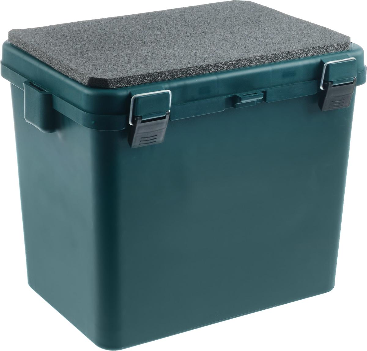 """Ящик зимний """"Helios"""", односекционный, цвет: зеленый, серый, 19 л, ТОНАР"""