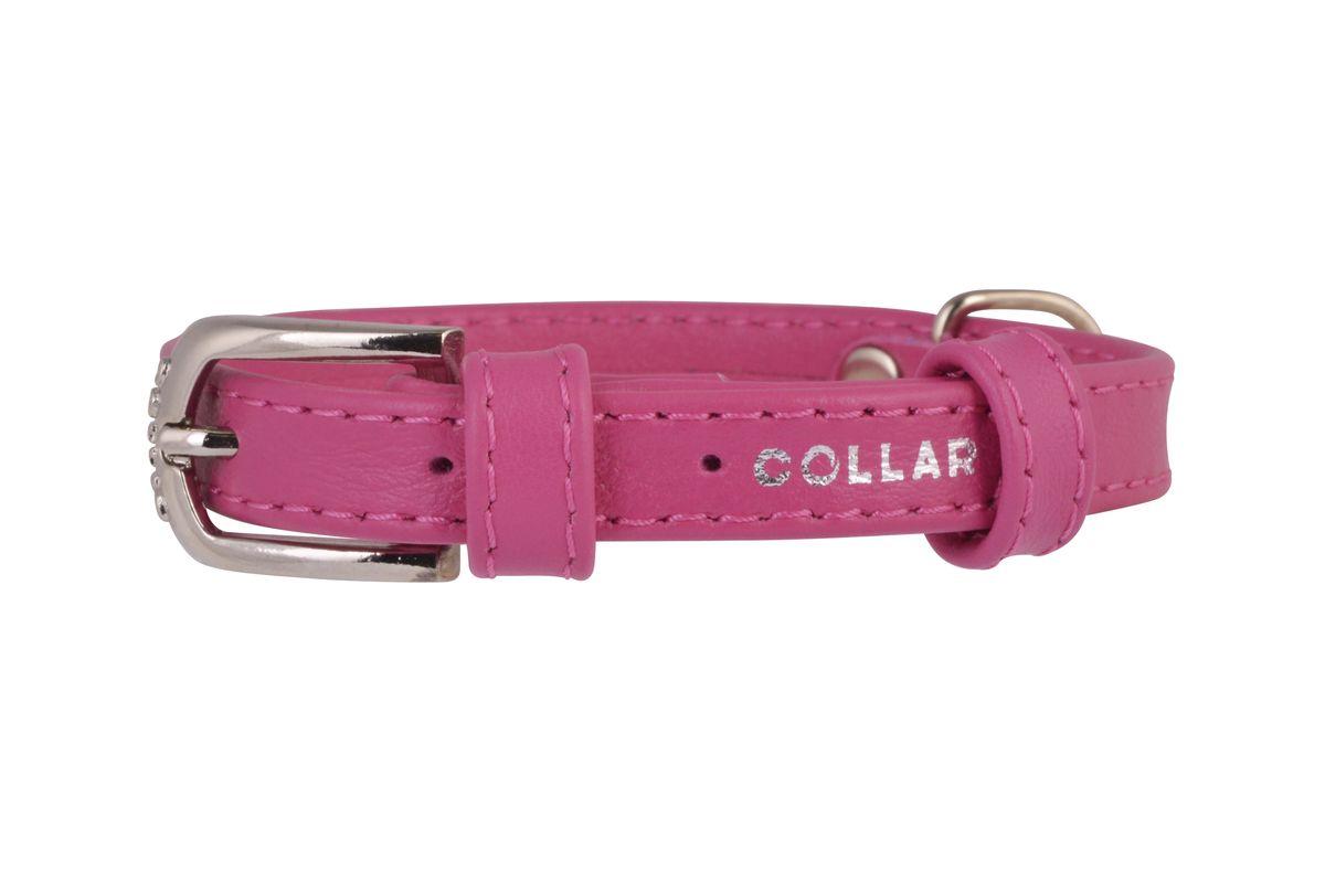 """Ошейник """"CoLLaR Glamour"""", цвет: розовый, ширина 12 мм, длина 21-29 см. 32567"""