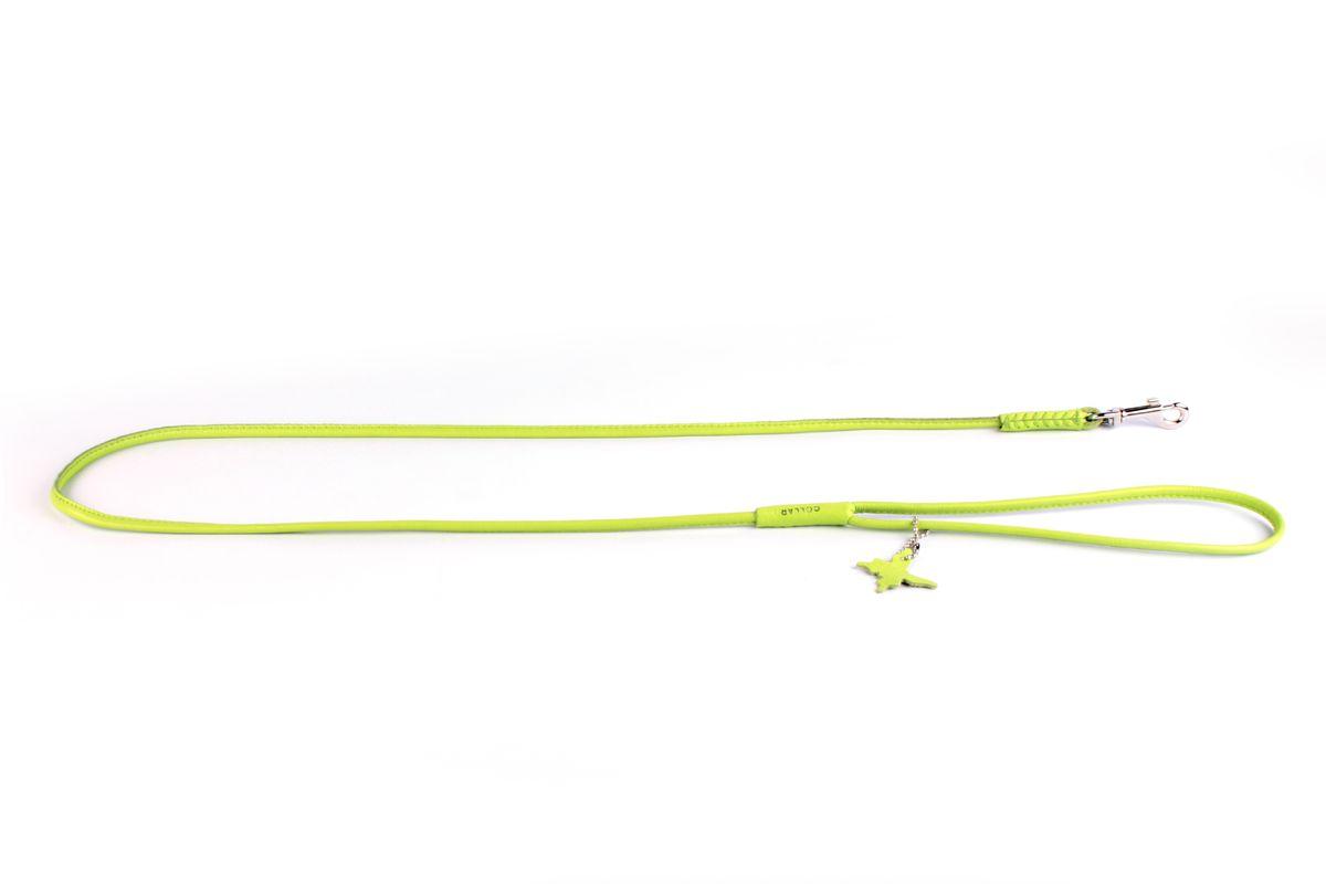 Поводок CoLLaR Glamour , цвет: зеленый, ширина 6 мм, длина 122 см33805Поводок CoLLaR GLAMOUR круглый (ширина 6мм, длина 122см) зелёный