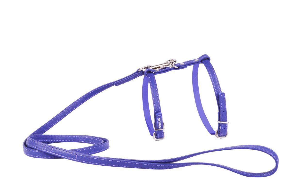 Шлейка CoLLaR Glamour, с поводком, цвет: фиолетовый, ширина 12 мм, обхват груди: 35-43 см34009Шлея CoLLaR GLAMOUR с поводком (ширина 12мм, А:25-35см, В:35-43 см) фиолетовая