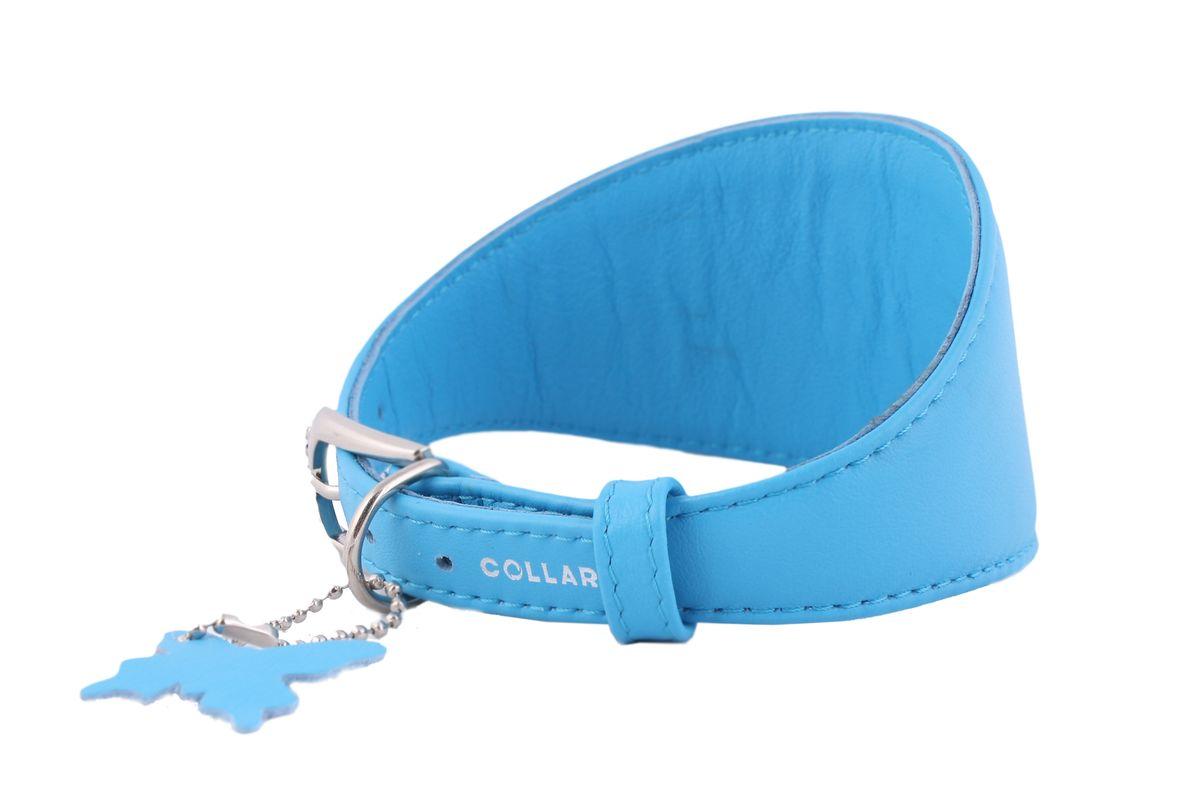 Ошейник CoLLaR Glamour, для борзых собак, цвет: синий, ширина 15 мм, длина 29-35 см34662Ошейник CoLLaR GLAMOUR для борзых собак без украшений (ширина 15мм, длина 29-35см) синий