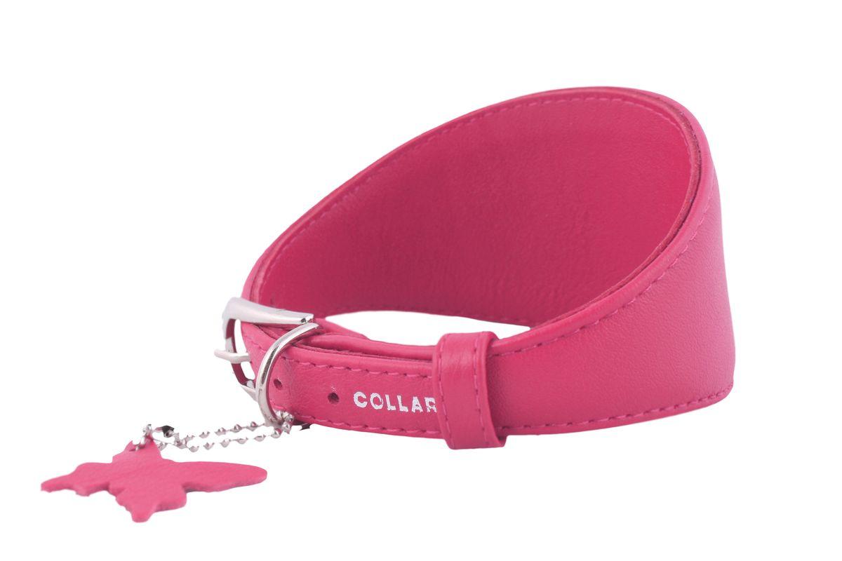 Ошейник CoLLaR Glamour, для борзых собак, цвет: розовый, ширина 15 мм, длина 29-35 см34667Ошейник CoLLaR GLAMOUR для борзых собак без украшений (ширина 15мм, длина 29-35см) розовый