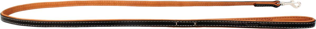 Поводок CoLLaR SOFT, цвет: черный, ширина 13 мм, длина 122 см7254Поводок CoLLaR SOFT чёрный верх (ширина 13мм, длина 122см)