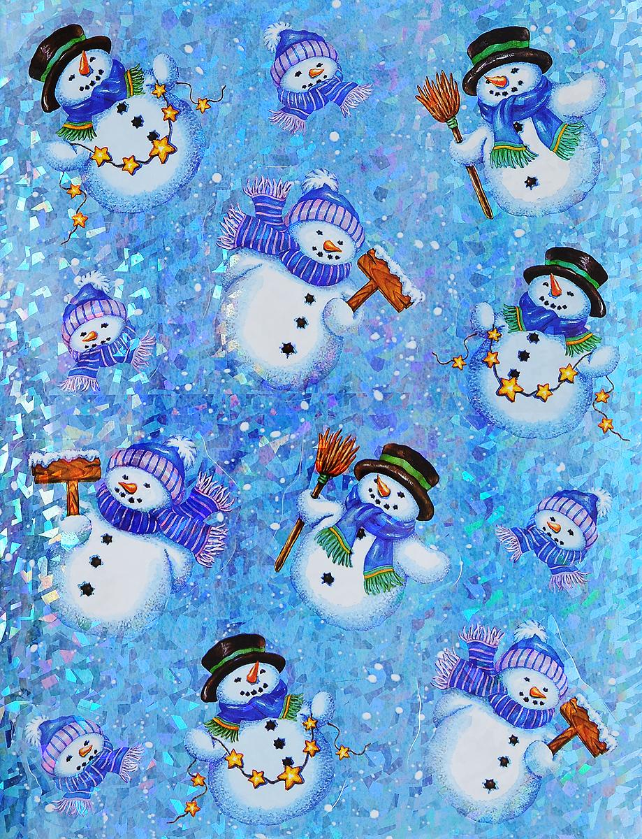 Украшение новогоднее оконное Winter Wings Снеговики, 12 штN09276Новогоднее оконное украшение Winter Wings Снеговики поможет украсить дом к предстоящим праздникам. Наклейки изготовлены из ПВХ и выполнены в виде снеговиков. С помощью этих украшений вы сможете оживить интерьер по своему вкусу, наклеить их на окно, на зеркало или на дверь. Новогодние украшения всегда несут в себе волшебство и красоту праздника. Создайте в своем доме атмосферу тепла, веселья и радости, украшая его всей семьей. Размер листа: 38 х 30 см. Средний размер наклейки: 10 х 9,5 см.