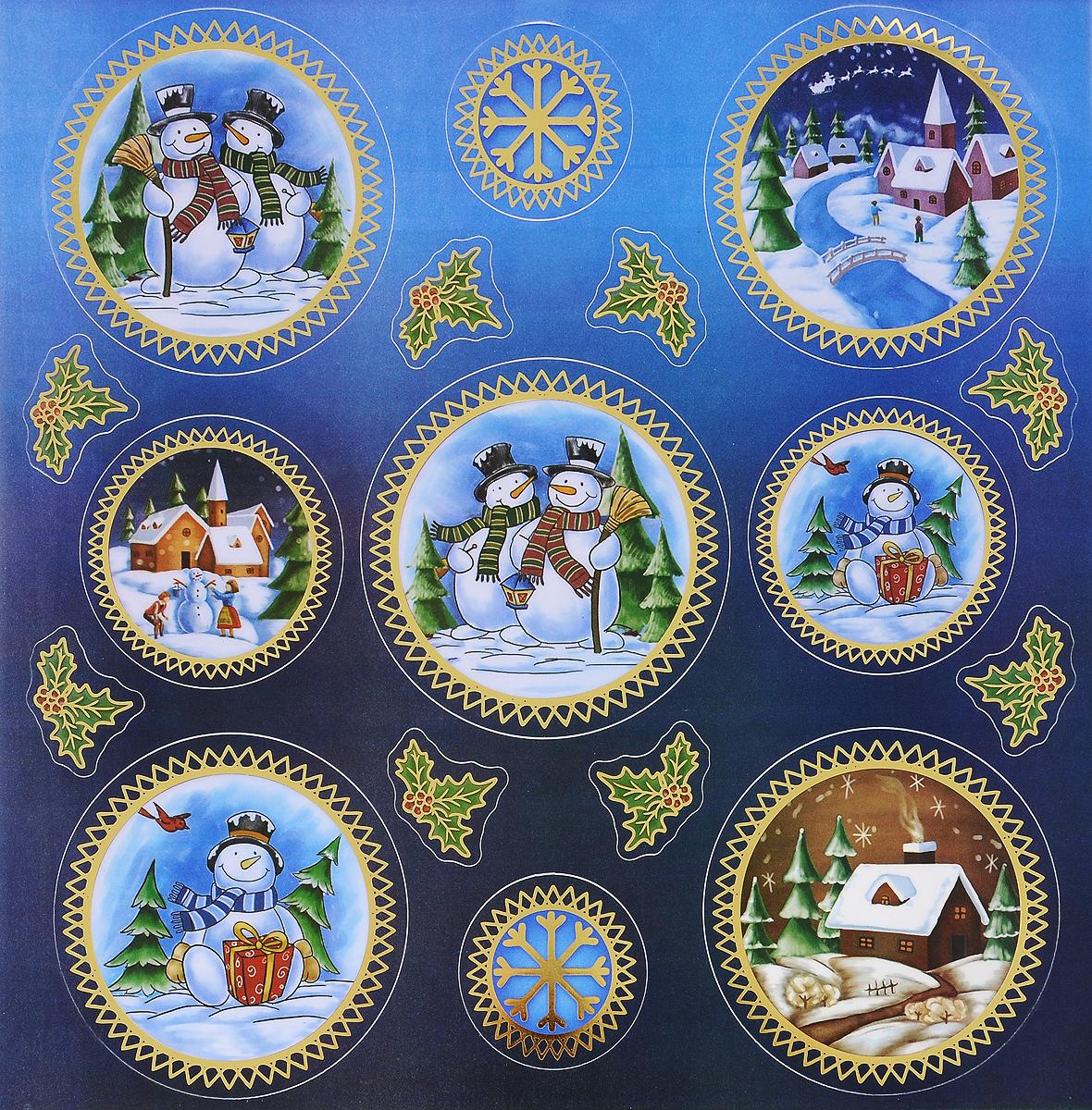 Украшение новогоднее оконное Winter Wings Снеговики, 16 штN09289Новогоднее оконное украшение Winter Wings Снеговики поможет украсить дом к предстоящим праздникам. Наклейки изготовлены из ПВХ. С помощью этих украшений вы сможете оживить интерьер по своему вкусу, наклеить их на окно, на зеркало или на дверь. Новогодние украшения всегда несут в себе волшебство и красоту праздника. Создайте в своем доме атмосферу тепла, веселья и радости, украшая его всей семьей. Размер листа: 29,5 х 29 см. Количество наклеек на листе: 16 шт. Размер самой большой наклейки: 10 х 10 см. Размер самой маленькой наклейки: 3 х 4 см.