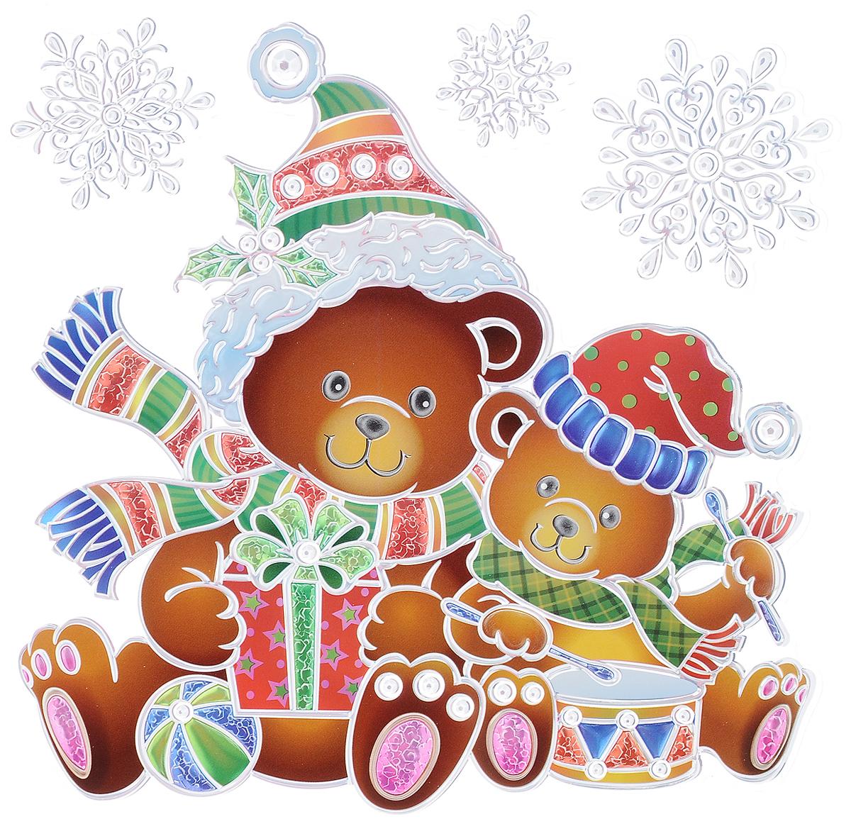 Украшение новогоднее оконное Winter Wings Мишки, 4 штN09343Новогоднее оконное украшение Winter Wings Мишки поможет украсить дом к предстоящим праздникам. Наклейки изготовлены из ПВХ. С помощью этих украшений вы сможете оживить интерьер по своему вкусу, наклеить их на окно, на зеркало или на дверь. Новогодние украшения всегда несут в себе волшебство и красоту праздника. Создайте в своем доме атмосферу тепла, веселья и радости, украшая его всей семьей. Размер листа: 18 х 24 см. Количество наклеек на листе: 4 шт. Размер самой большой наклейки: 17 х 16 см. Размер самой маленькой наклейки: 3 х 3 см.