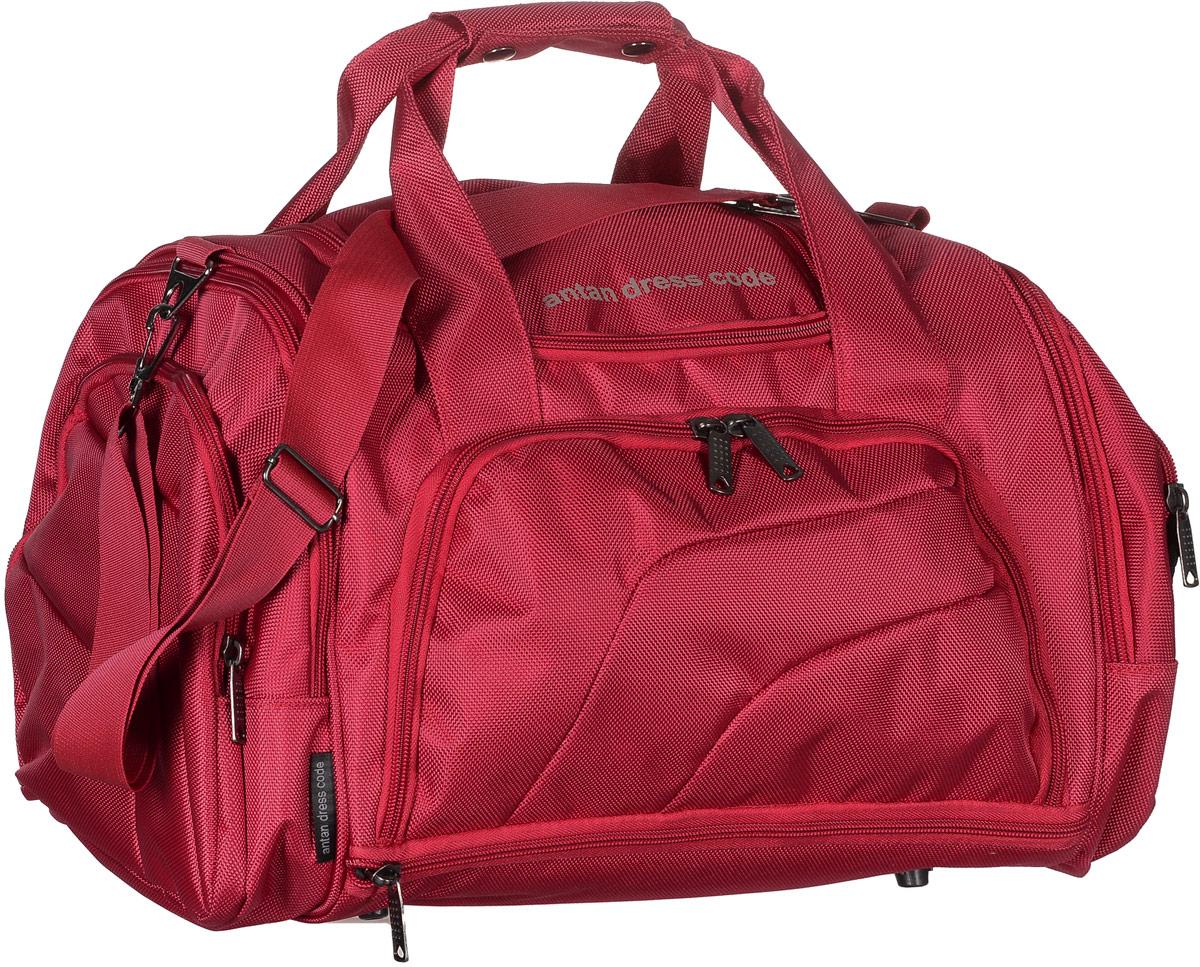 Сумка дорожная Аntan, цвет: красный. 2-1592-159Вместительная дорожная сумка Аntan выполнена из полиэстера. Изделие имеет одно отделение, которое закрывается на застежку-молнию. Снаружи, на передней стенке расположен накладной карман на застежке-молнии, внутри которого предусмотрен накладной сетчатый карман, по бокам - четыре накладных кармана на застежках-молниях, сверху - прорезной карман на застежке-молнии. Основание изделия оснащено карманом на застежке-молнии. Сумка дополнена двумя удобными ручками. В комплект входит съемный регулируемый плечевой ремень. Основание изделия защищено от повреждений пластиковыми ножками.