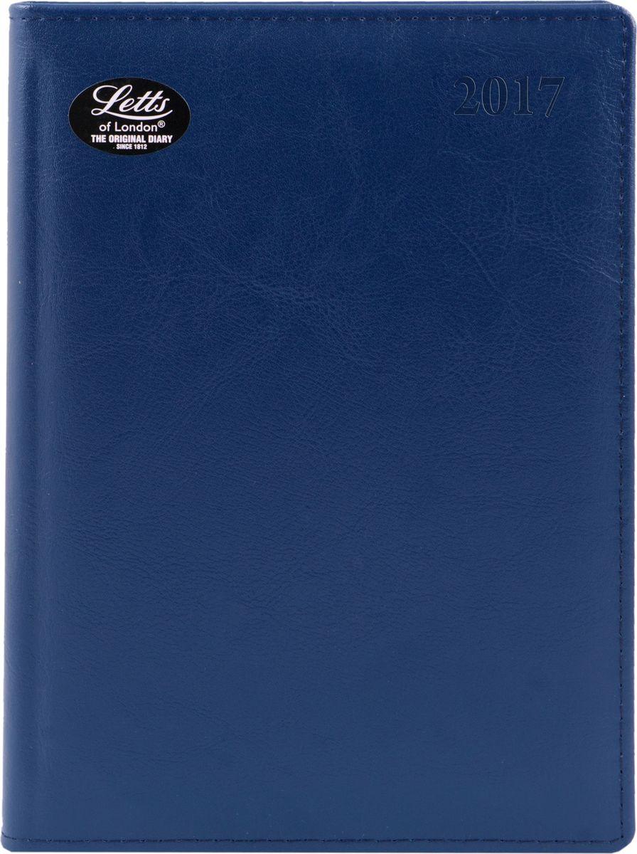 Letts Ежедневник Global Deluxe 2017 датированный 208 листов цвет синий формат А5412127220Утонченный ежедневник Letts Global Deluxe 2017 - идеально подойдёт настоящим ценителям английской классики. Ежедневник выполнен в твердом переплете из нежнейшей натуральной кожи синего цвета. Серебристый срез страниц, шелковая закладка-разделитель и перфорированные уголки подчеркнут респектабельный стиль владельца. Каждая страница ежедневника имеет почасовую и календарную нумерацию. На каждый час отведено по 2 строчки, а в боковой части страницы находится 24 строчки для телефонных и почтовых заметок. На первых страницах ежедневника представлен информационный блок. Он включает международные коды, часовые пояса, меры длины, веса и других величин, размеры одежды, аэропорты Европы, национальные праздники. Также в данный блок входит график отпусков и календарь с 2016 по 2021 год. В конце ежедневника представлена телефонная книга и цветная карта мира. Ежедневники Letts Global Deluxe 2017 - это высочайшее качество, стиль, динамичность и...