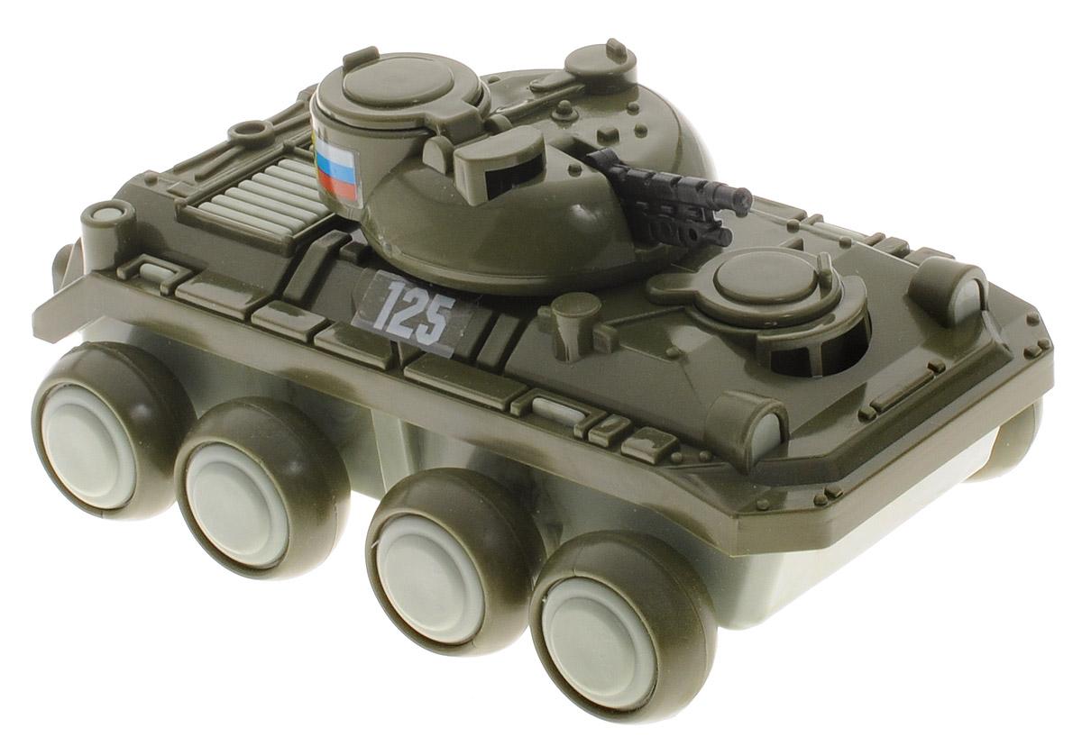 Форма БМПС-116-ФВоенный бронированный Танк БМП Форма станет главным развлечением вашего малыша. Танк предназначен для транспортировки личного состава пехоты к месту назначения. Эта игрушечная модель создана по образу и подобию оригинала. Большие колеса позволяют следовать по различным поверхностям, ровным и бугристым. Башня с пушкой позволит защитить личный состав от нападения, ведь оружие, которым оснащен автомобиль может поворачиваться в разные стороны и выбирать высоту прицела. Три люка, позволяющие попасть внутрь БМП, открываются и закрываются. Военная техника яркая и безопасная для здоровья вашего ребенка.
