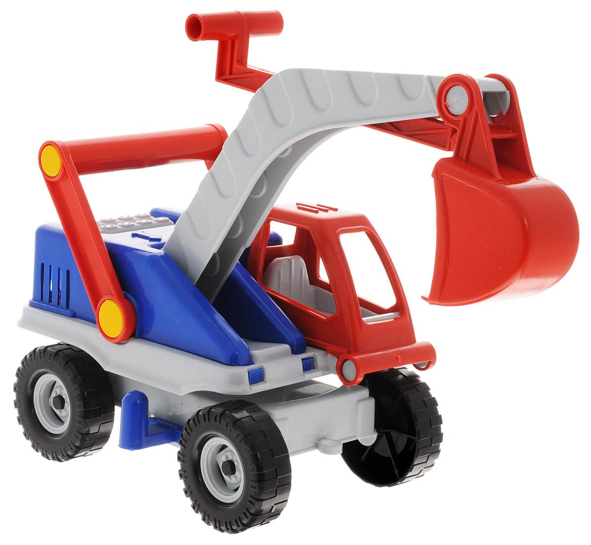 Форма ЭкскаваторС-135-ФЭкскаватор Форма станет главным развлечением вашего малыша. Выполненная из качественного прочного пластика игрушка долго прослужит малышу. Плотные массивные колеса, напоминающие резиновые, обеспечивают плавность хода машинки, а также устойчивость. Экскаватор оснащён большим пластиковым ковшом для поднятия груза. При поднятии красного рычага на ковше, он сможет опускаться вверх-вниз. Машинка яркая и безопасная для здоровья вашего малыша.