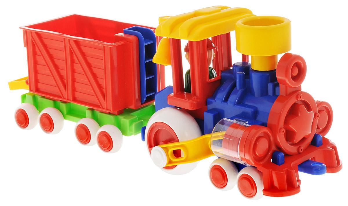 Форма Паровозик Ромашка с вагоном Детский садС-118-ФПаровозик Ромашка с вагоном Форма Детский сад - это яркий и абсолютно безопасный паровозик, выполненный из прочных материалов. Паровозик обязательно порадует малыша и станет замечательным подарком для юного железнодорожника. Паровоз и вагон крепко сцеплены друг с другом, имеют широкие нескользящие колеса, благодаря которым не будут буксовать даже на гладкой поверхности. Поршни в цилиндрах паровозика двигаются. В паровоз и вагоны можно посадить маленькие фигурки. Пластмассовый паровозик может стать незаменимым другом в песочнице.
