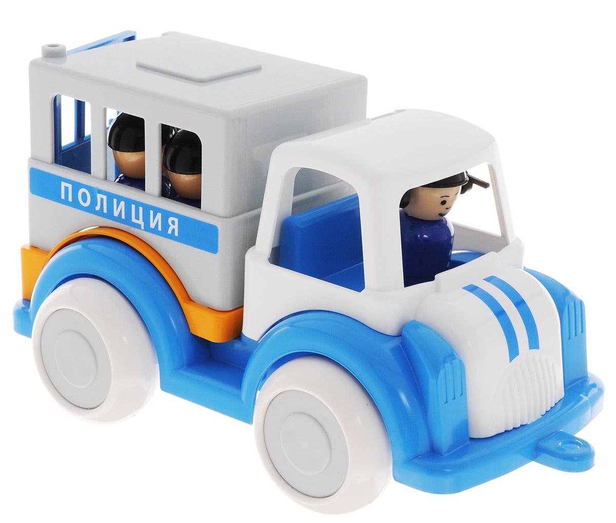 Форма Машинка ПолицияС-161-ФМашинка Полиция Форма станет главным развлечением вашего малыша. Выполненная из прочной пищевой пластмассы, игрушка долго прослужит малышу. Плотные массивные колеса, напоминающие резиновые, обеспечивают плавность хода машинки, а также устойчивость. В машинке находятся человечки, которых можно вынимать, а заднюю дверь машинки можно открывать и закрывать. Спереди полицейской машинки есть отверстие для того, чтобы вдеть туда веревку и катать машинку вслед за собой. Машинка очень яркая и безопасная.