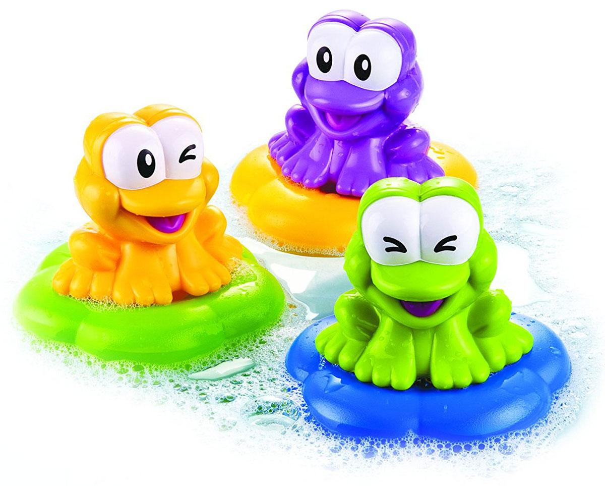 B kids Набор игрушек для ванной Веселые лягушки 3 шт078598Набор игрушек для ванной B kids Веселые лягушки - это забавное развлечение, которое сделает водные процедуры любимым моментом дня. В фирменной коробке B kids вас ждут три разноцветных лягушки, плавающие на островках. Лягушки хорошо удерживаются на поверхности воды. А если нажать на их головы, вы услышите смешные звуки. У каждой лягушки - свой звук. Предназначено для детей от 1 года.