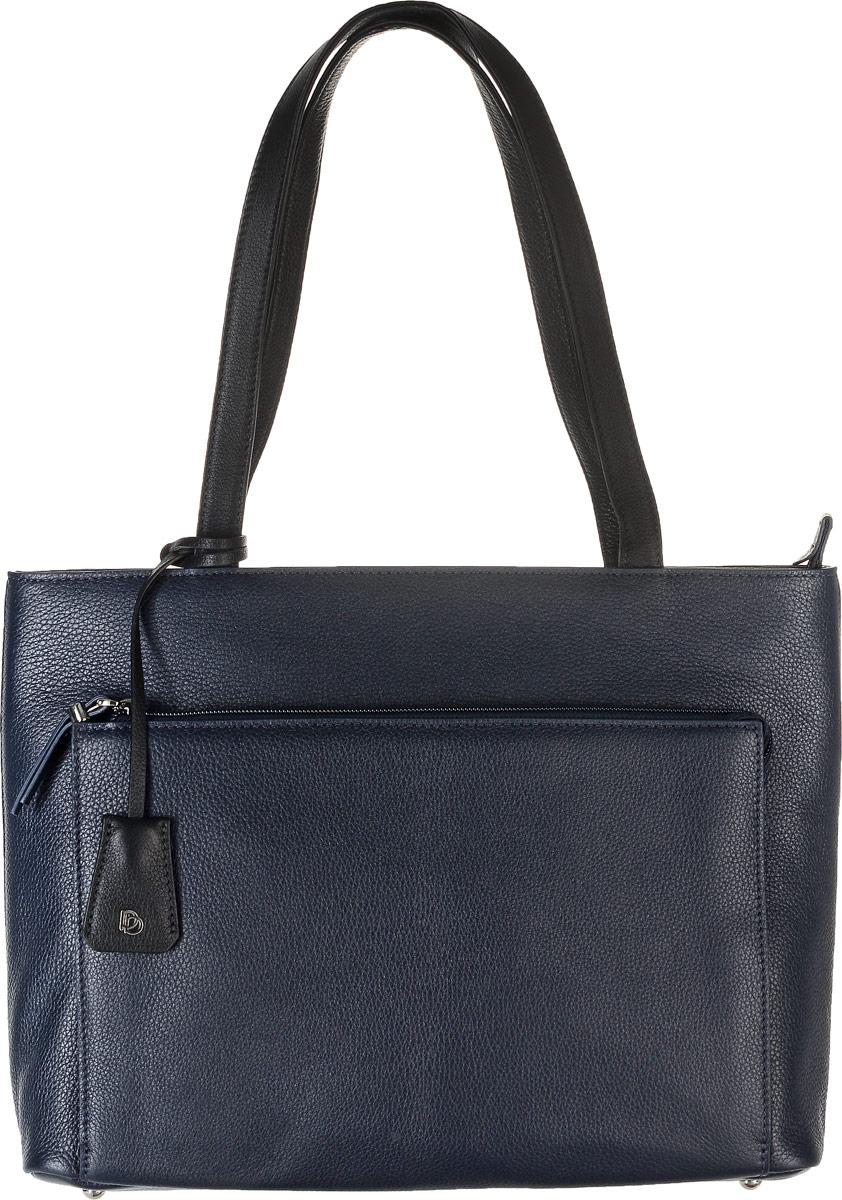 Сумка женская Pimo Betti, цвет: темно-синий. 15009B-W115009B-W1Женская сумка Pimo Betti выполнена из натуральной кожи с фактурным тиснением. Сумка имеет одно основное отделение, закрывающееся на застежку-молнию. Внутри расположены два накладных кармана под телефон и мелкие принадлежности, один большой накладной карман, закрывающийся на кнопку, и вшитый карман на застежке-молнии. Снаружи, с фронтальной стороны сумка дополнена накладным карманом на молнии, с тыльной - прорезным карманом с застежкой-молнией. Изделие оснащено двумя удобными ручками. Дно сумки дополнено четырьмя металлическими ножками. Модель декорирована съемным брелоком из натуральной кожи с логотипом фирмы. Элегантная и вместительная сумка Pimo Betti прекрасно дополнит ваш образ и подчеркнет неповторимый стиль.