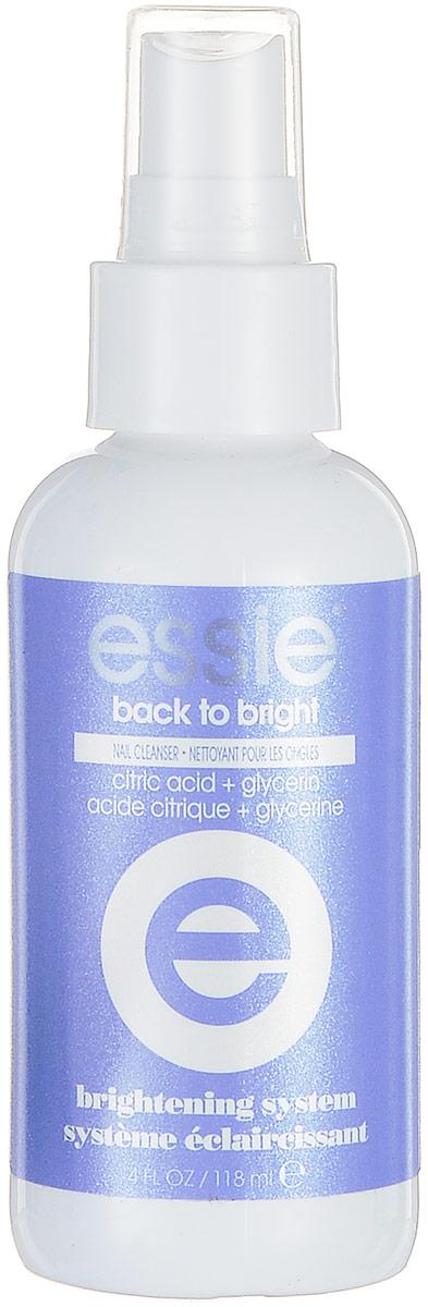 Essie professional Очищающий спрей BACK TO BRIGHT, 118 млP0887400Заключительный этап системы отбеливания BRIGHTNING от ESSIE PROFESSIONAL. Спрей BACK TO BRIGHT помогает освежить ногтевую пластину, придать ей здоровый вид и блеск. Используется для закрепления результата осветления ногтевой пластины и в качестве обезжиривания перед нанесением покрытия.