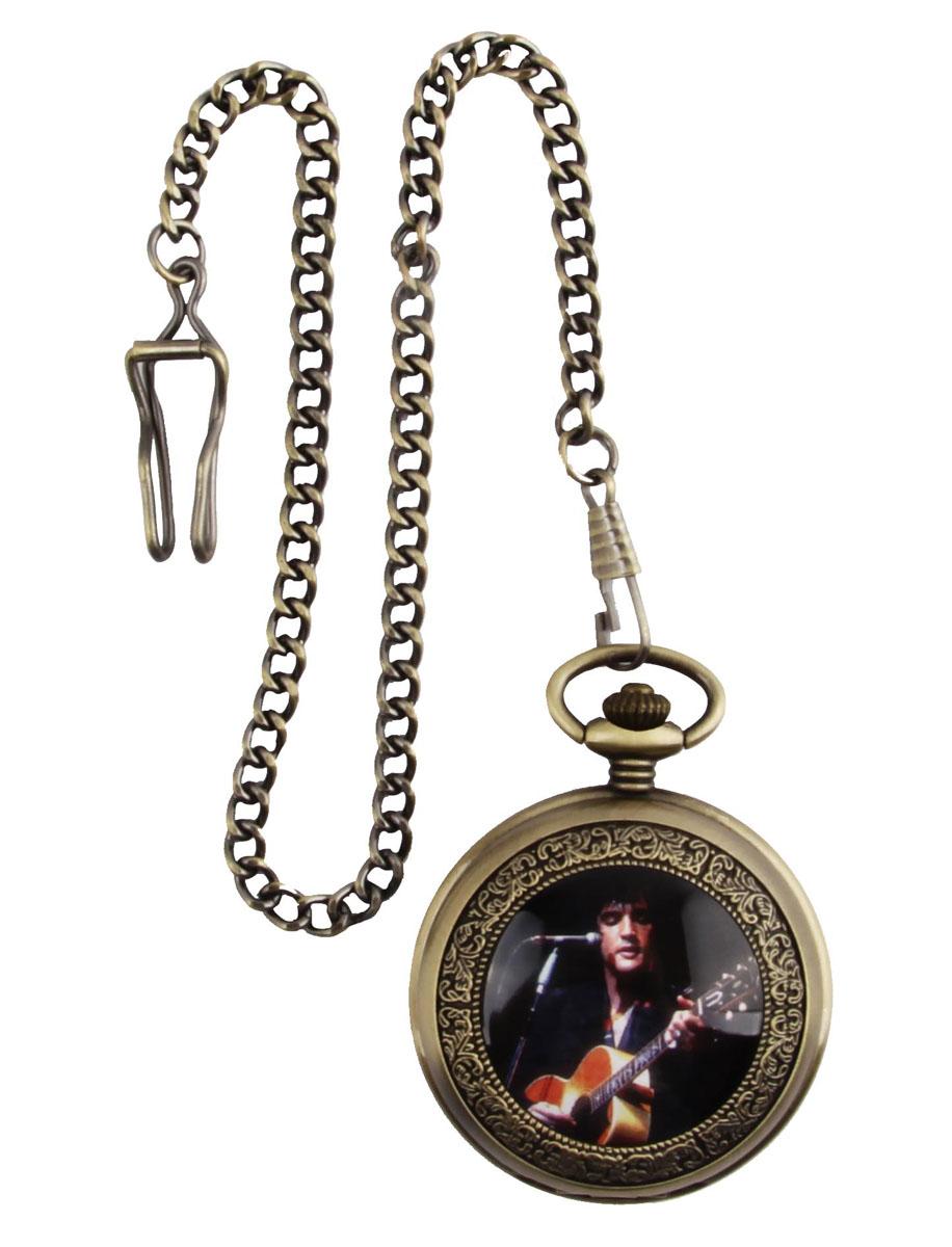 Карманные часы на цепочке Элвис Пресли. Металл, стекло, кварцевый часовой механизм. Конец XX векаОС28635Карманные часы на цепочке Элвис Пресли. Металл, стекло, кварцевый часовой механизм. Конец XX века. Длина цепочки 35 см, диаметр - 5 см. Сохранность хорошая. Часы в рабочем состоянии. Оригинальные карманные часы в металлическом корпусе и на цепочке. На крышке - изображение легендарного музыканта и актера Элвиса Пресли. Стильный акцент винтажного образа и оригинальная идея для подарка!