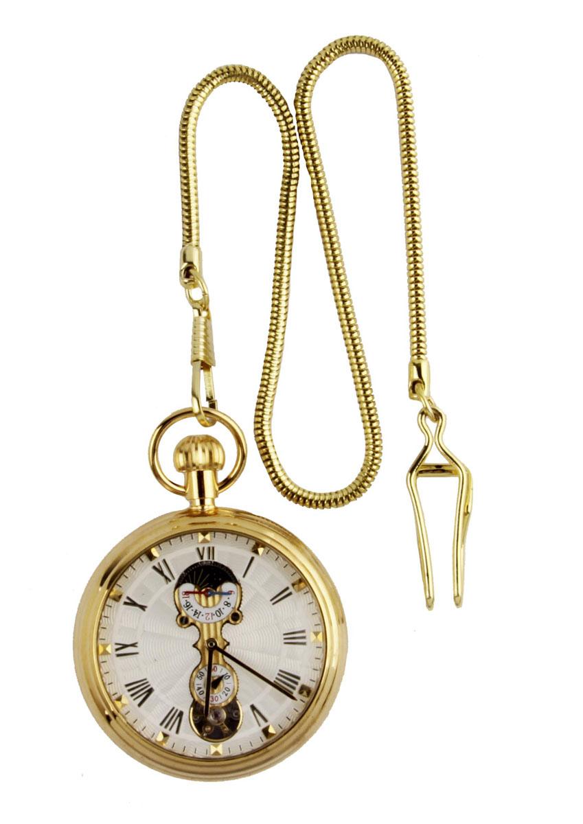 Классические карманные часы-скелетоны на цепочке. Металл, стекло, механический завод. Конец XX векаОС28658Классические карманные часы-скелетоны на цепочке. Металл, стекло, механический завод. Конец XX века. Длина цепочки 38 см, диаметр - 5 см. Сохранность хорошая. Часы в рабочем состоянии. Оригинальные карманные часы в металлическом корпусе и на цепочке. Стильный акцент винтажного образа и оригинальная идея для подарка!