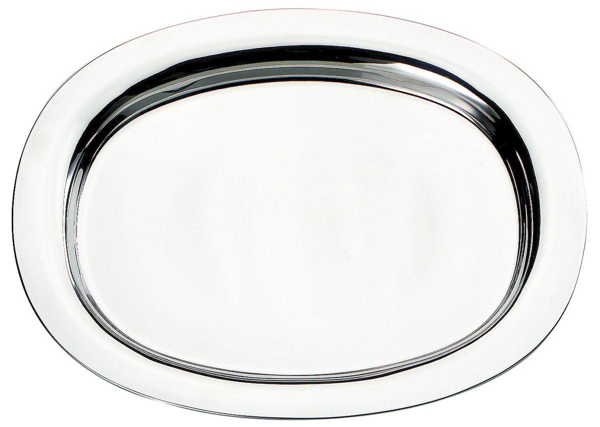 Поднос Axentia овальный, длина 30 см116661Овальный поднос Axentia выполнен из высококачественной нержавеющей стали. Он отлично подойдет для красивой сервировки различных блюд, закусок и фруктов на праздничном столе. Благодаря бортикам, поднос с легкостью можно переносить с места на место. Поднос Axentia займет достойное место на вашей кухне. Длина подноса: 30 см.