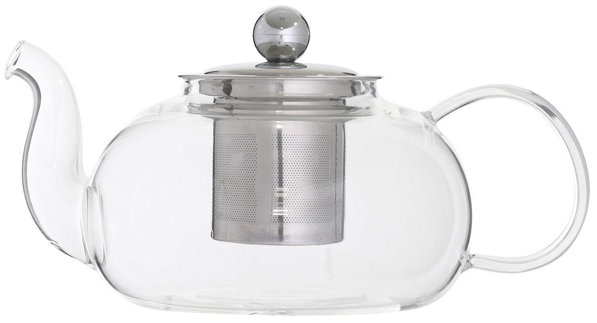 Чайник заварочный Axentia, с фильтром, 950 мл122646Заварочный чайник Axentia изготовлен из стекла. Этот чайник радует глаз своей оригинальным дизайном. Удобная ручка позволяет крепко держать чайник в руке. Изделие оснащено фильтром и крышкой. Простой и удобный чайник поможет вам приготовить крепкий, ароматный чай. Дизайн изделия впишется в интерьер любой кухни. Размеры чайника: 21,5 х 13,5 х 11 см.