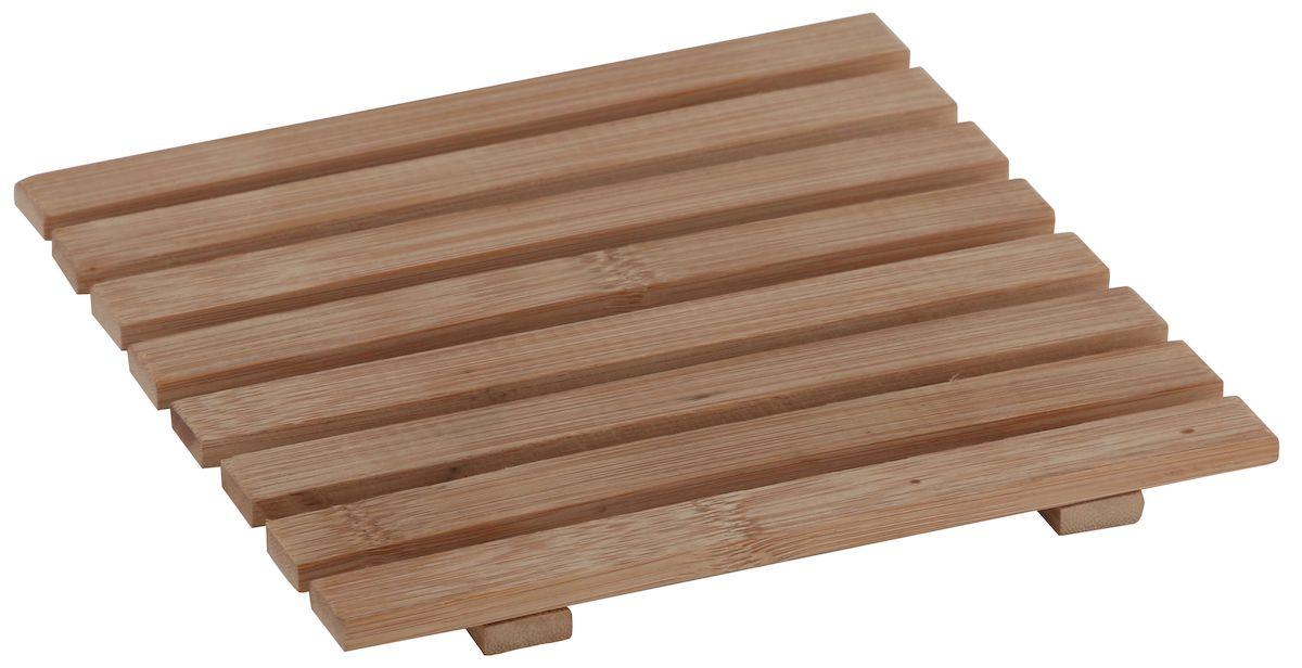 Подставка под горячее Axentia, 17 х 17 см124569Квадратная подставка под горячее Axentia, выполненная из бамбука, идеально впишется в интерьер современной кухни. Каждая хозяйка знает, что подставка под горячее - это незаменимый и очень полезный аксессуар на каждой кухне. Ваш стол будет не только украшен оригинальной подставкой, но и сбережен от воздействия высоких температур ваших кулинарных шедевров.