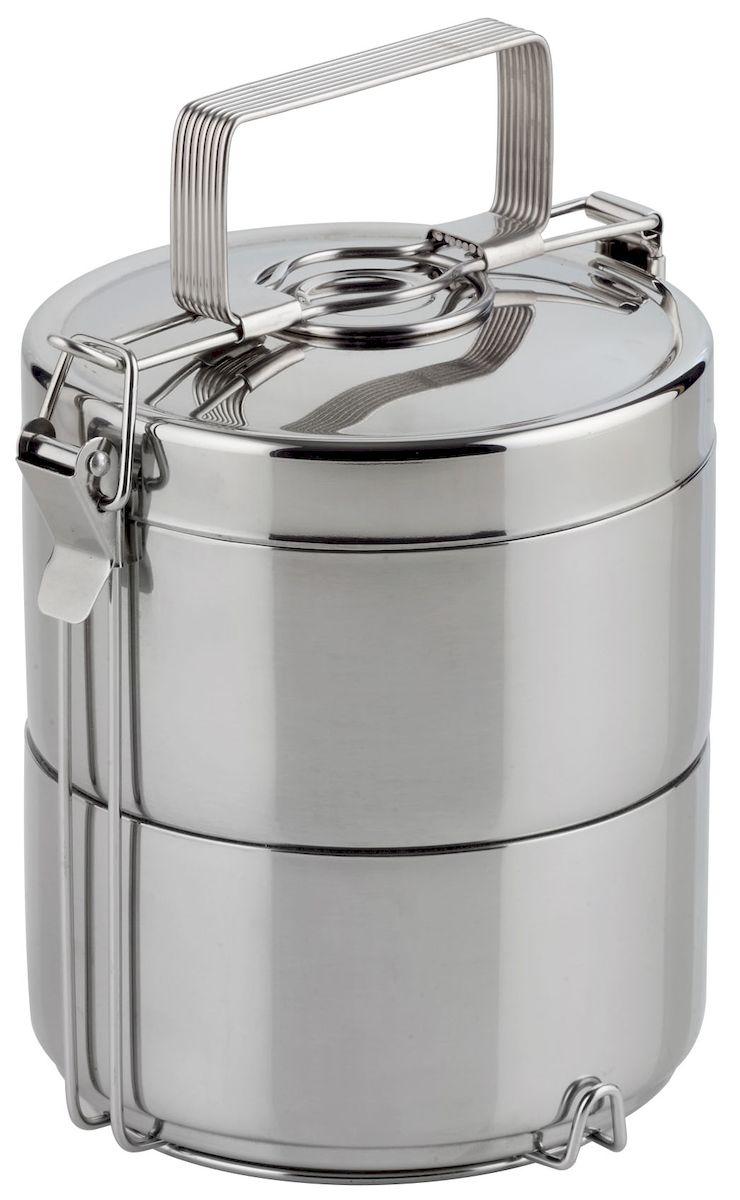 Набор контейнеров для горячей еды Axentia, 2 шт125478Набор Axentia, изготовленный из двухслойной нержавеющей стали, состоит из 2 пищевых контейнеров. Изделия представляют собой два бокса с вертикальным креплением и ручкой. Такие контейнеры предназначены для сохранения температуры и переноски горячей еды или холодных и замороженных продуктов. Высота бокса: 7 см. Общая высота: 21,5 см.