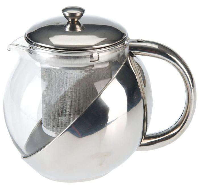 Чайник заварочный Axentia, с фильтром, 750 мл223510Заварочный чайник Axentia, изготовленный из термостойкого стекла, предоставит вам все необходимые возможности для успешного заваривания чая. Чай в таком чайнике дольше остается горячим, а полезные и ароматические вещества полностью сохраняются в напитке. Чайник оснащен фильтром, выполненном из нержавеющей стали. Простой и удобный чайник поможет вам приготовить крепкий, ароматный чай. Нельзя мыть в посудомоечной машине. Не использовать в микроволновой печи. Диаметр чайника (по верхнему краю): 11 см. Высота чайника (без учета крышки): 15,5 см.