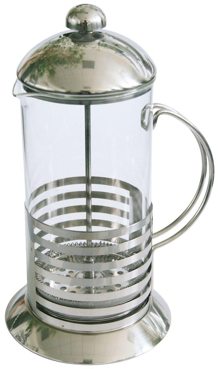 Френч-пресс Axentia Tebino, 1 л223545Френч-пресс Axentia Tebino, выполненный из стекла и нержавеющей стали, практичный и простой в использовании. Засыпая чайную заварку под фильтр и заливая ее горячей водой, вы получаете ароматный чай с оптимальной крепостью и насыщенностью. Остановить процесс заварки чая легко. Для этого нужно просто опустить поршень, и заварка уйдет вниз, оставляя вверху напиток, готовый к употреблению. Современный дизайн полностью соответствует последним модным тенденциям в создании предметов бытовой техники.