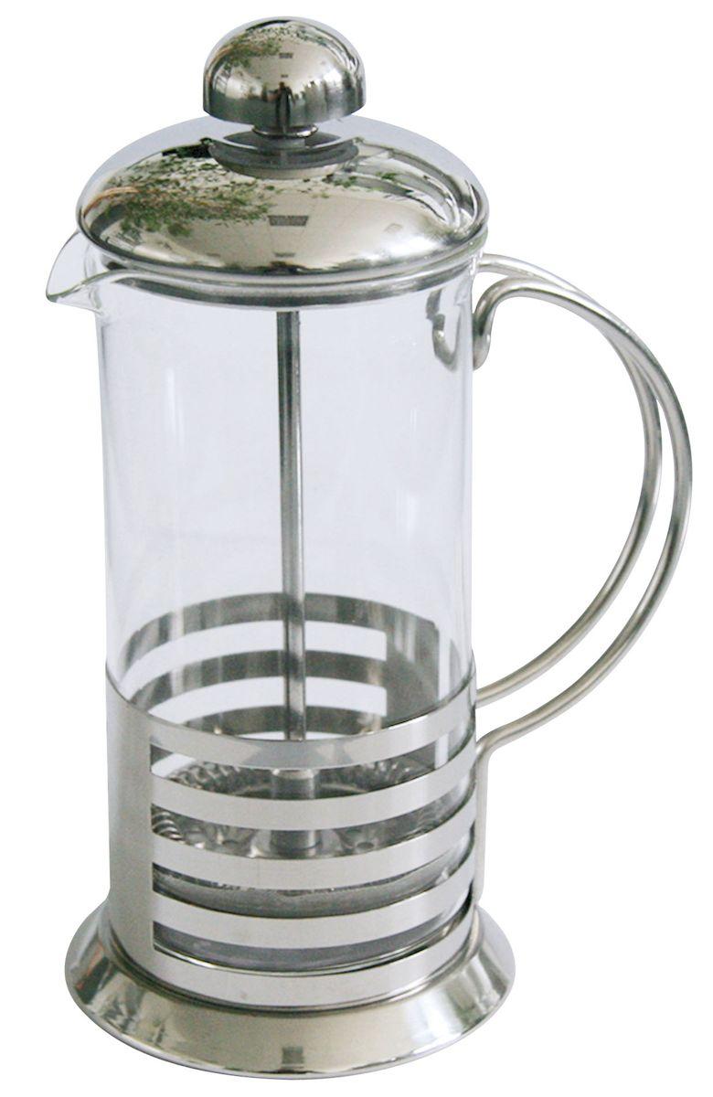 Френч-пресс Axentia Tebino, 350 мл223Френч-пресс Axentia Tebino, выполненный из стекла и нержавеющей стали, практичный и простой в использовании. Засыпая чайную заварку под фильтр и заливая ее горячей водой, вы получаете ароматный чай с оптимальной крепостью и насыщенностью. Остановить процесс заварки чая легко. Для этого нужно просто опустить поршень, и заварка уйдет вниз, оставляя вверху напиток, готовый к употреблению. Современный дизайн полностью соответствует последним модным тенденциям в создании предметов бытовой техники.