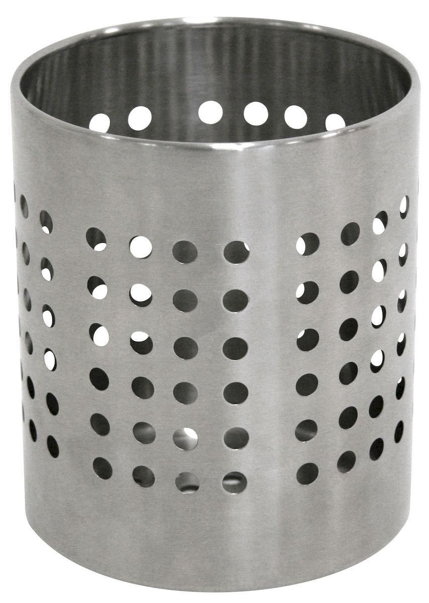 Подставка Axentia для столовых приборов, 12 х 12 х 14 см224754Подставка для столовых приборов Axentia выполнена из нержавеющей стали с перфорацией. Подходит для размещения ложек, вилок, ножей и предметов кухонной утвари. Изделие для столовых приборов выполнено в оригинальном дизайне, оно не займет много места, а столовые приборы будут всегда под рукой. Диаметр поставки: 12 см. Высота подставки: 14 см.