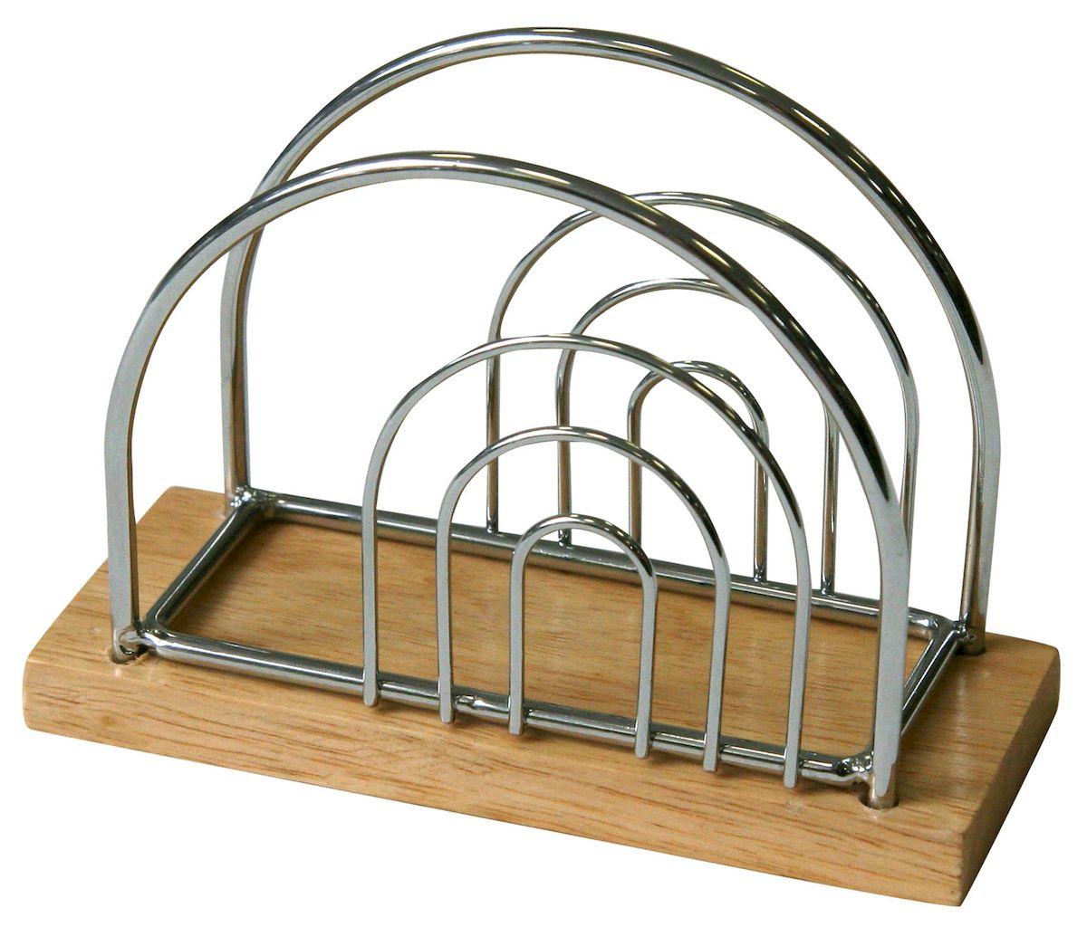 Салфетница Axentia Top Star, 13 х 9,5 см224784Салфетница Axentia Top Star изготовлена из высококачественной хромированной стали и дерева. Эксклюзивный дизайн, эстетичность и функциональность сделают ее красивым дополнением сервировки стола и полезным приобретением для вашей кухни. Изделие можно мыть в посудомоечной машине. Размеры: 13 х 9,5 см.