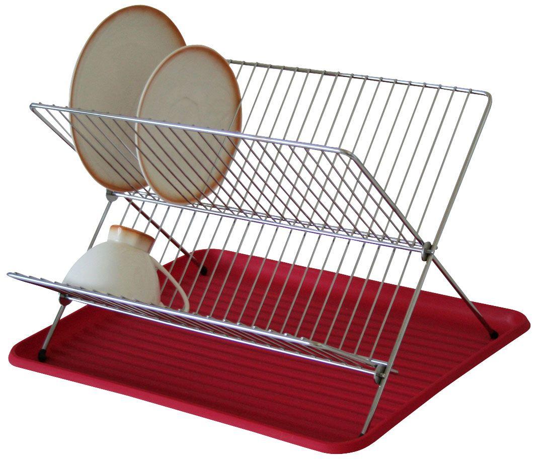Сушилка Axentia для посуды, с поддоном, 40 х 34,5 х 27 см291330Сушилка для посуды Axentia выполнена из никелированной стали. Изделие Х-образной формы оснащено пластиковым лотком для сбора стекающей воды. Подходит для тарелок различных размеров, чашек и другой посуды. Сушилку можно установить на крыло мойки, стол или в кухонный шкаф. Очень практичная и функциональная сушилка не займет много места на кухне и стильно оформит интерьер.