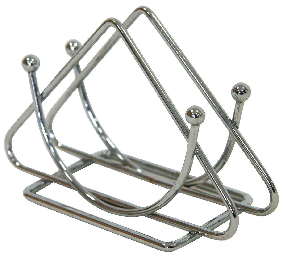 Салфетница настольная Top Star, 13 х 9 см. 702895702895Салфетница настольная Top Star из хромированной стали. Размер 13 х 9 см.