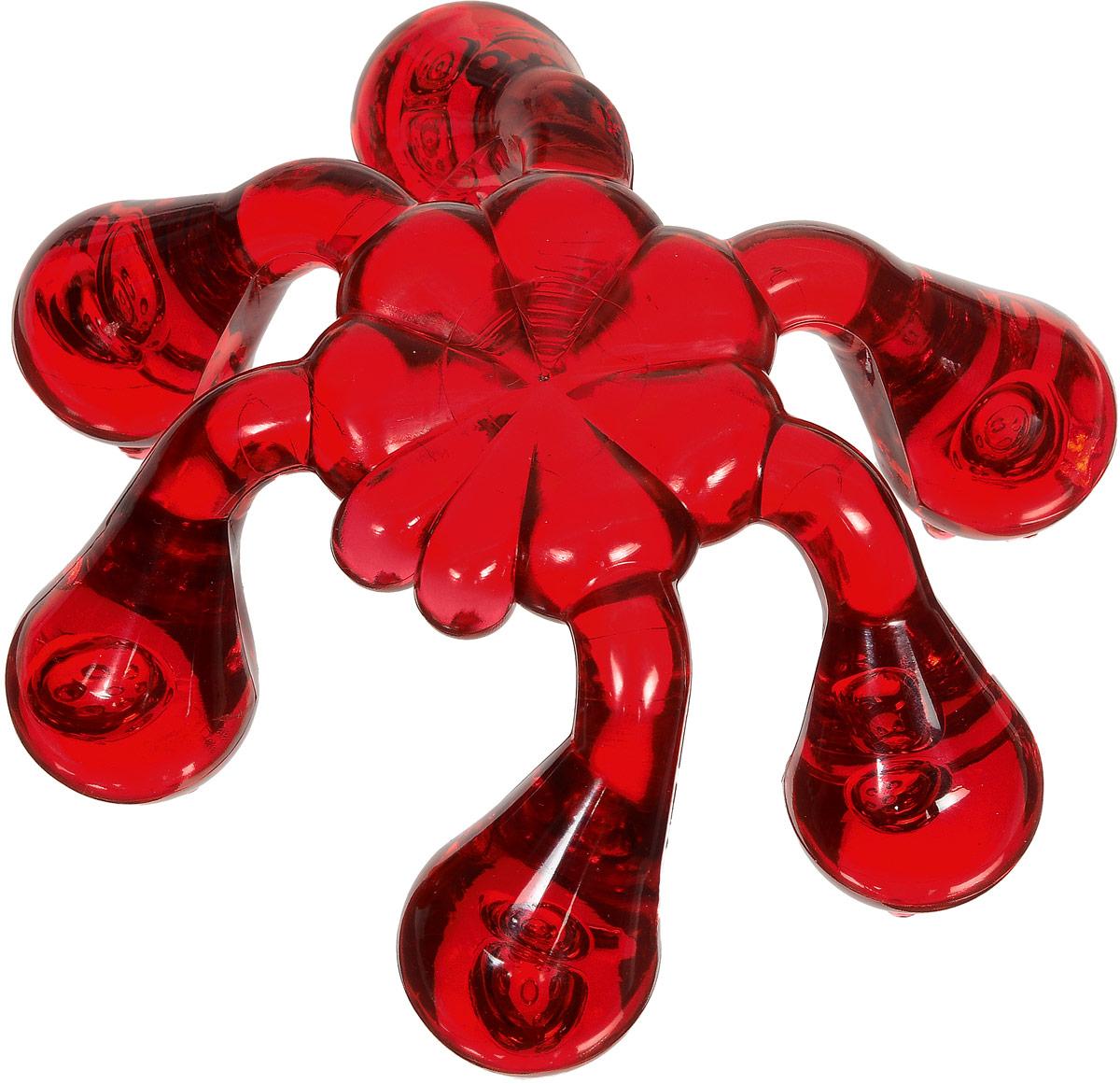 Лапонька-краб мануальный массажер, цвет: красный